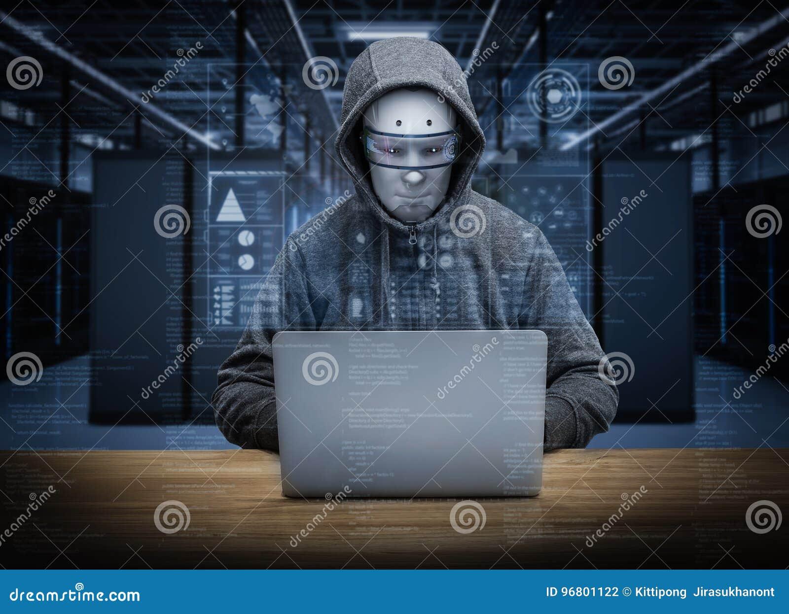 De hakker van de Humanoidrobot