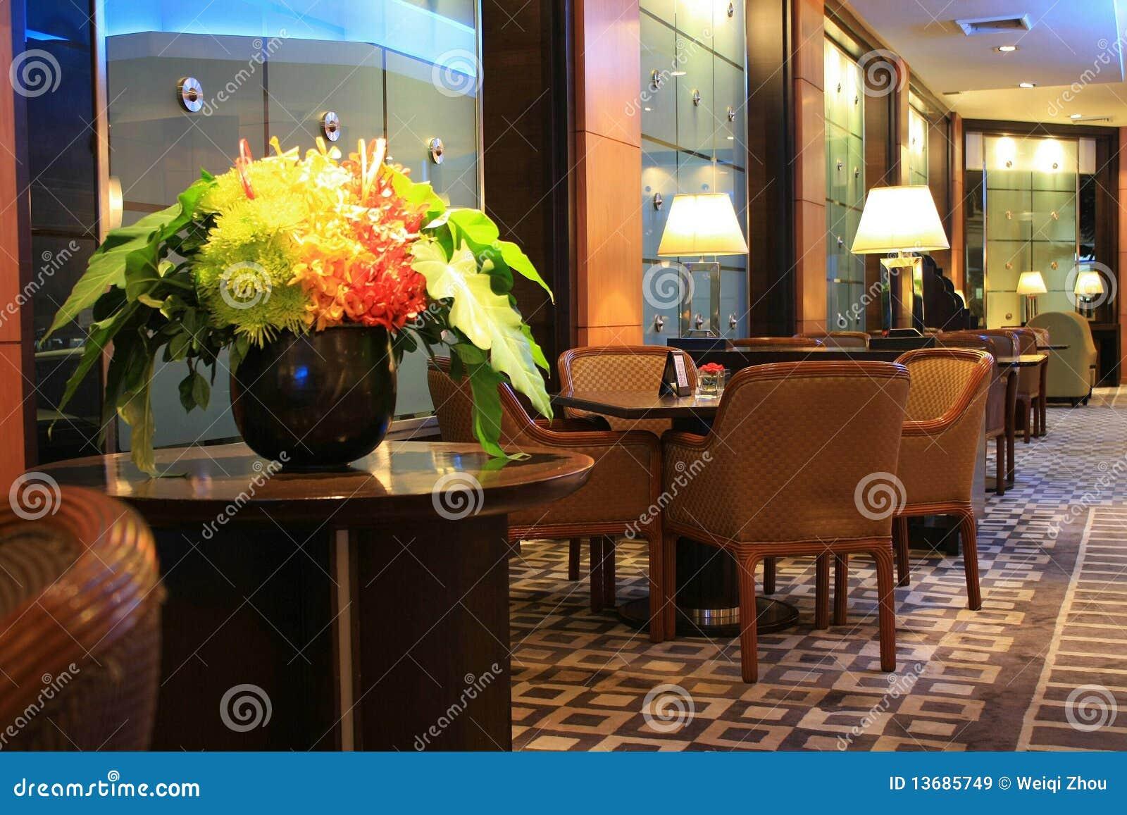 De hal van het hotel in Bangkok