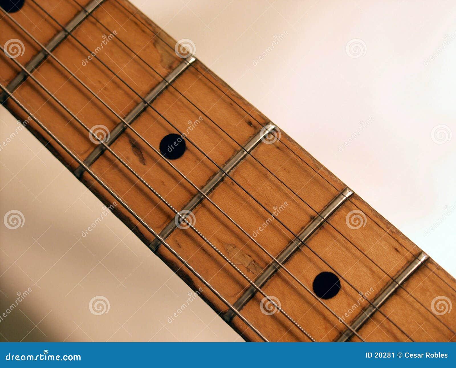 De hals van de gitaar