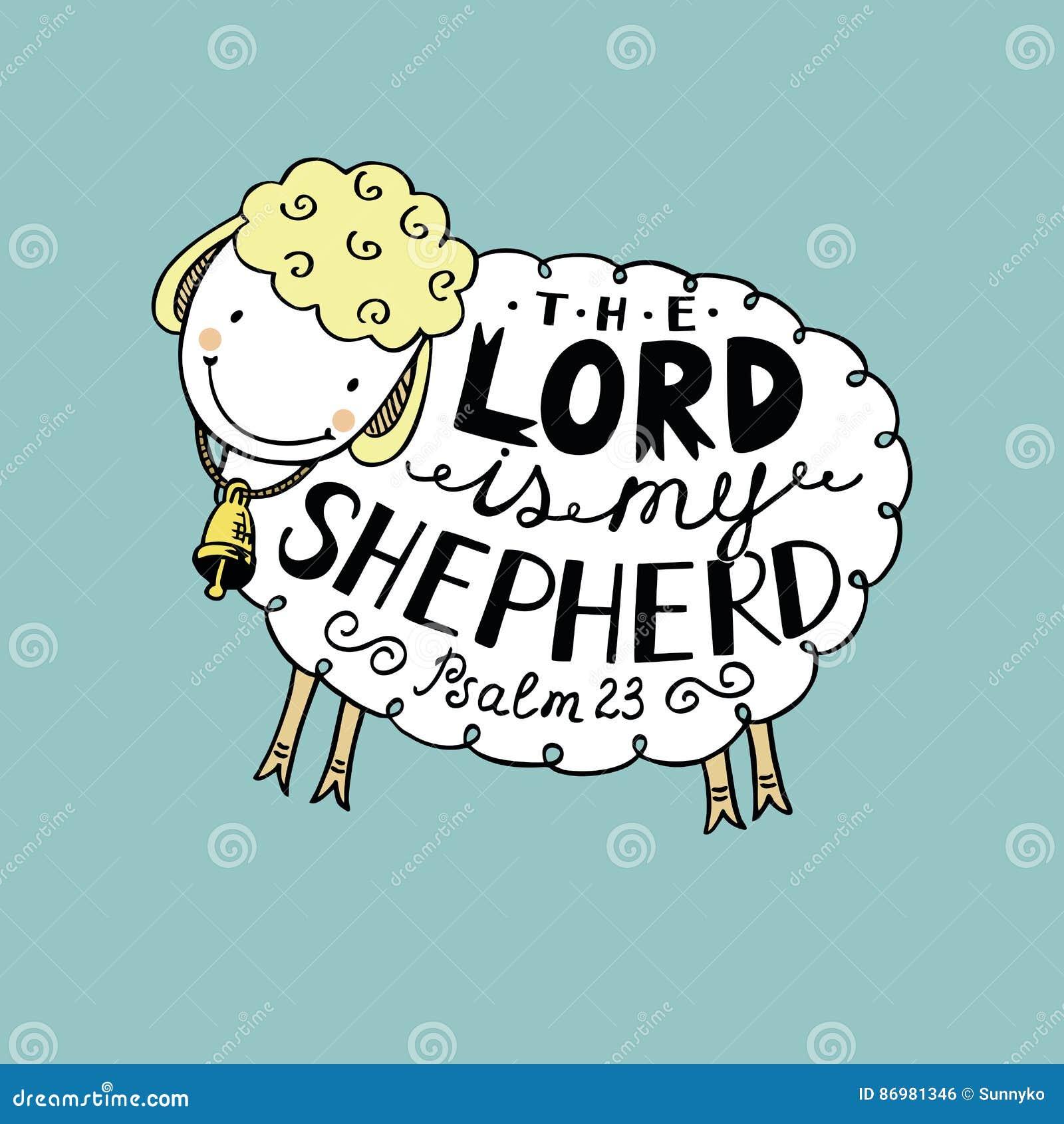 De hand die Lord van letters voorzien is mijn herder