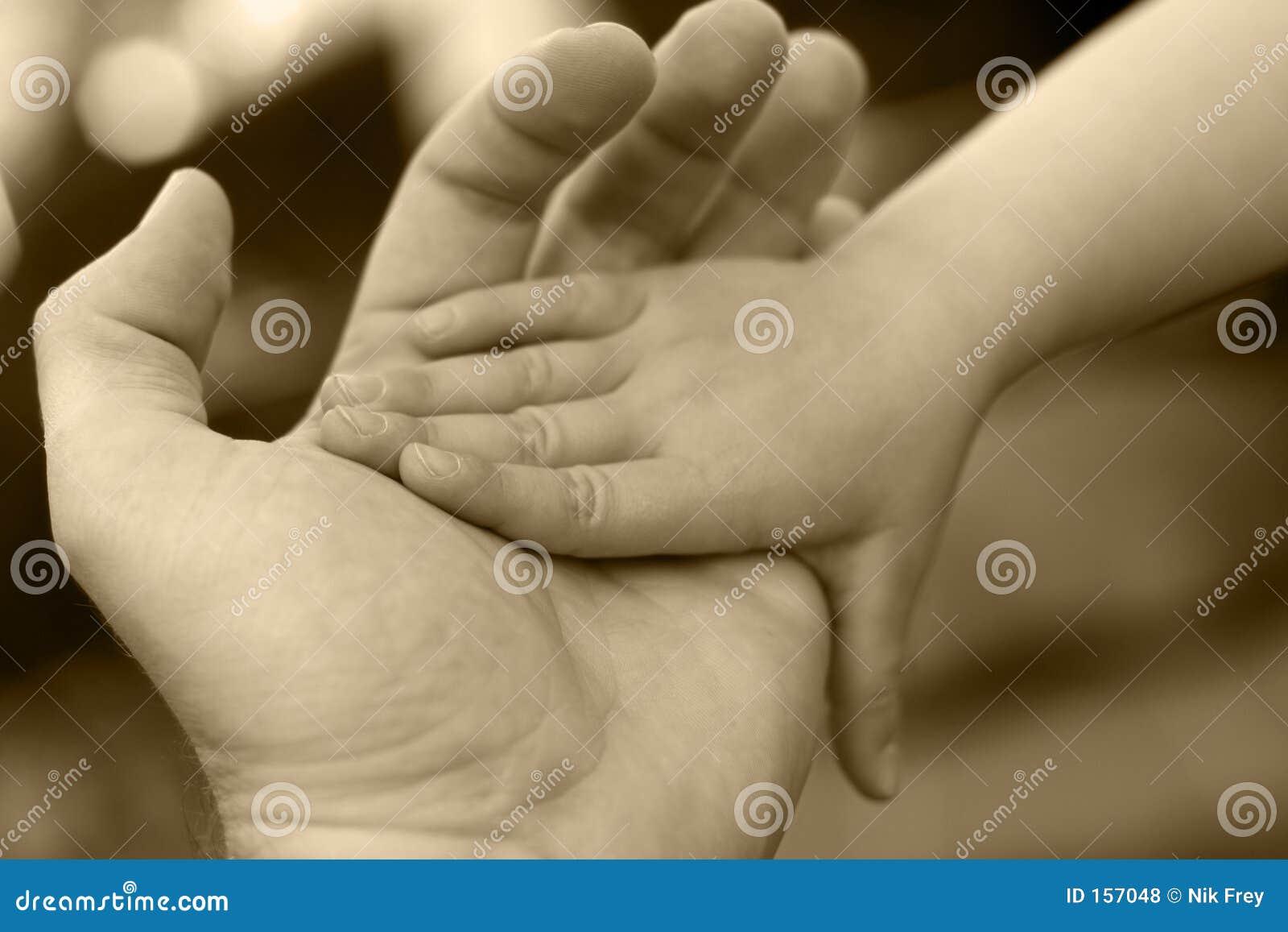 De Hand van de holding