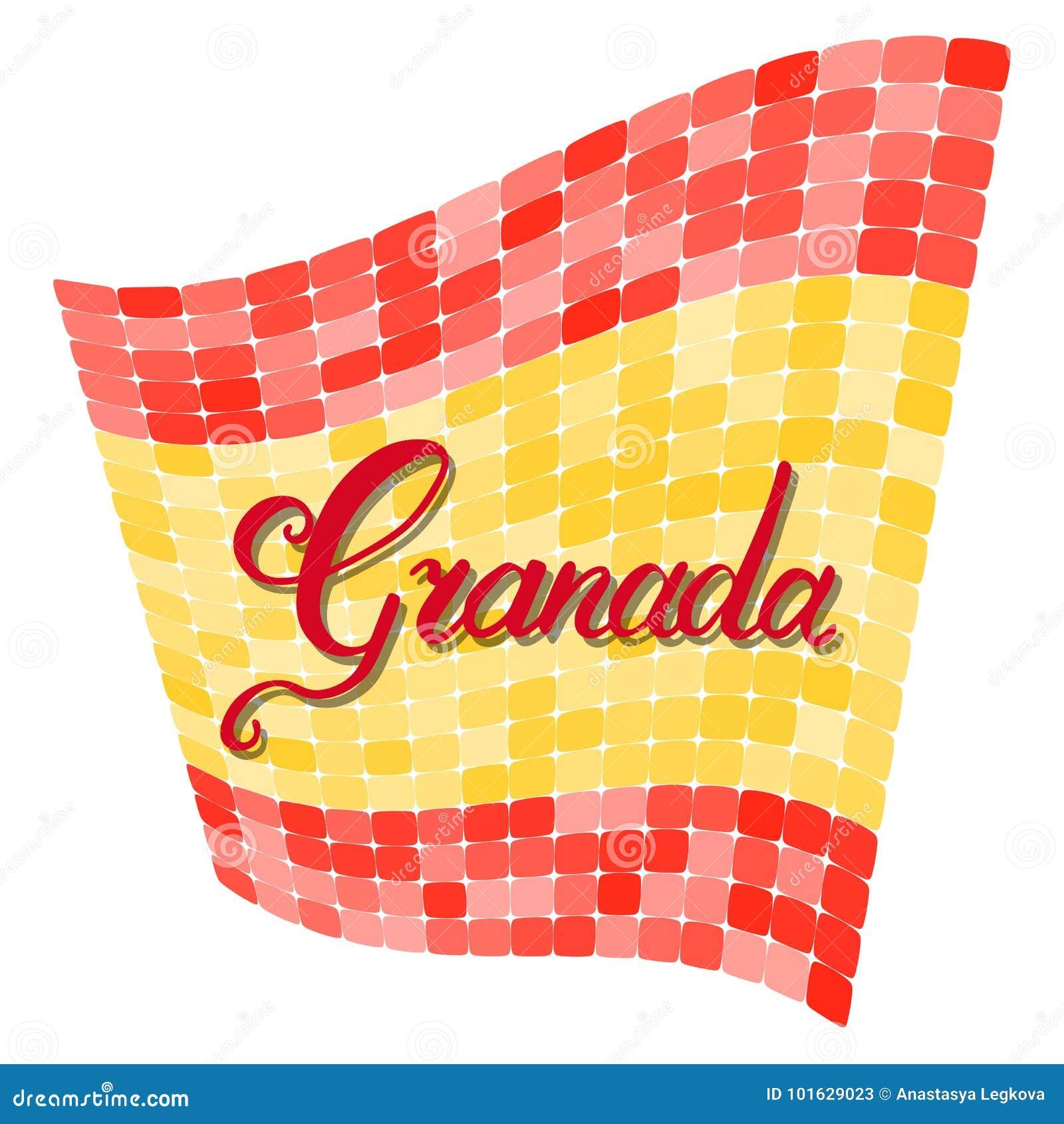 De hand van Granada het van letters voorzien