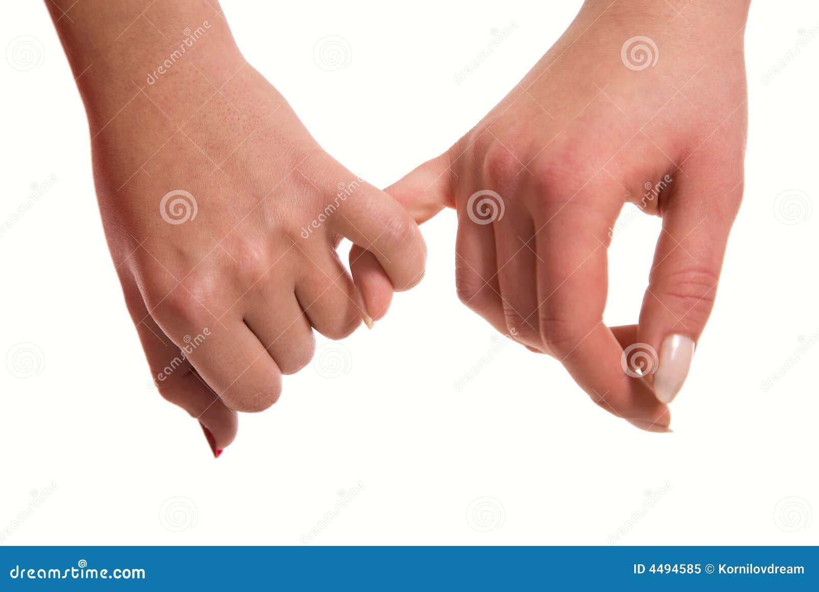 De handen sensuele aanraking van vrouwen