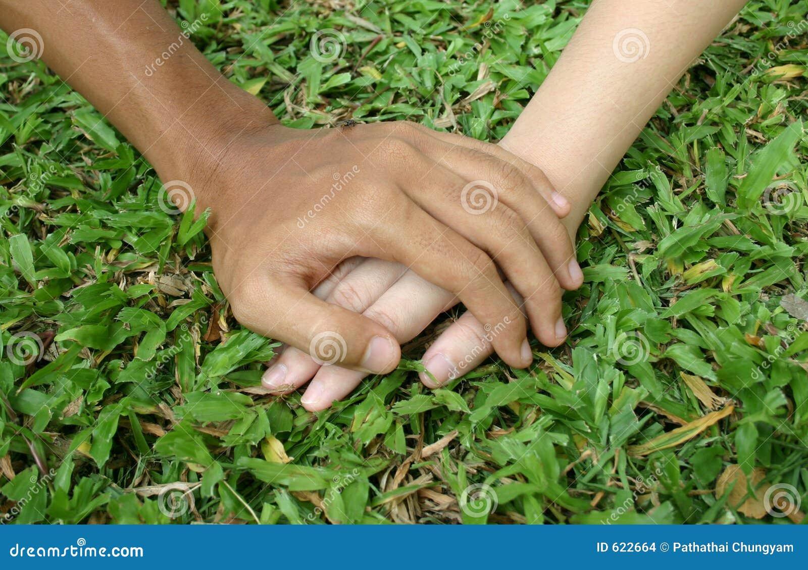 De handen van de minnaar