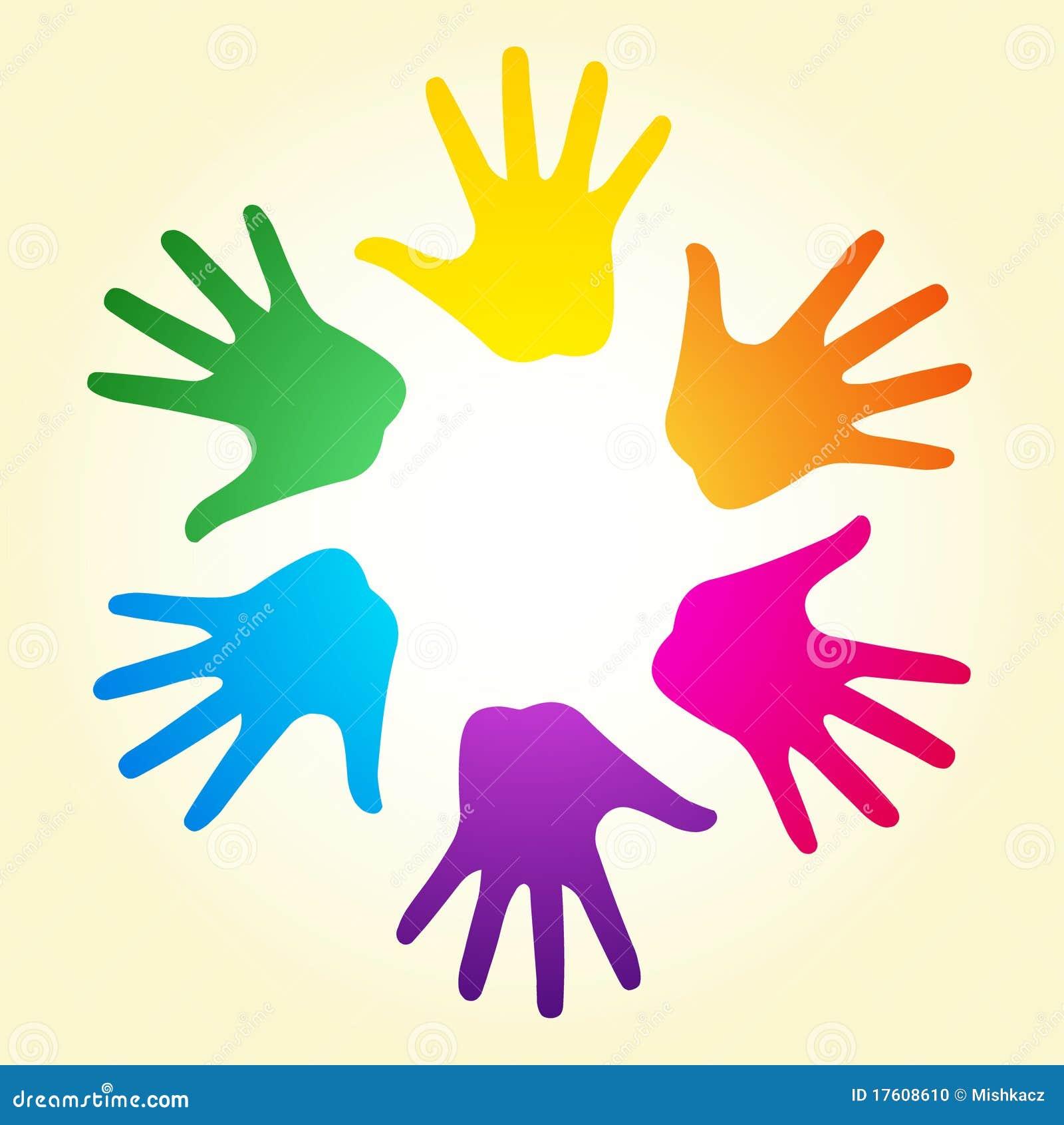 De handen van de regenboog