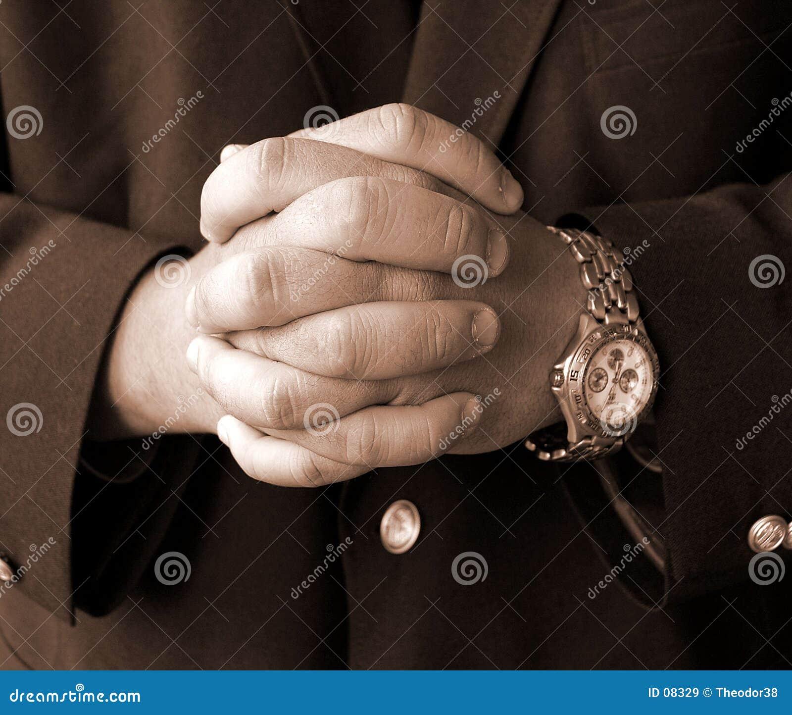 De handen van de zakenman
