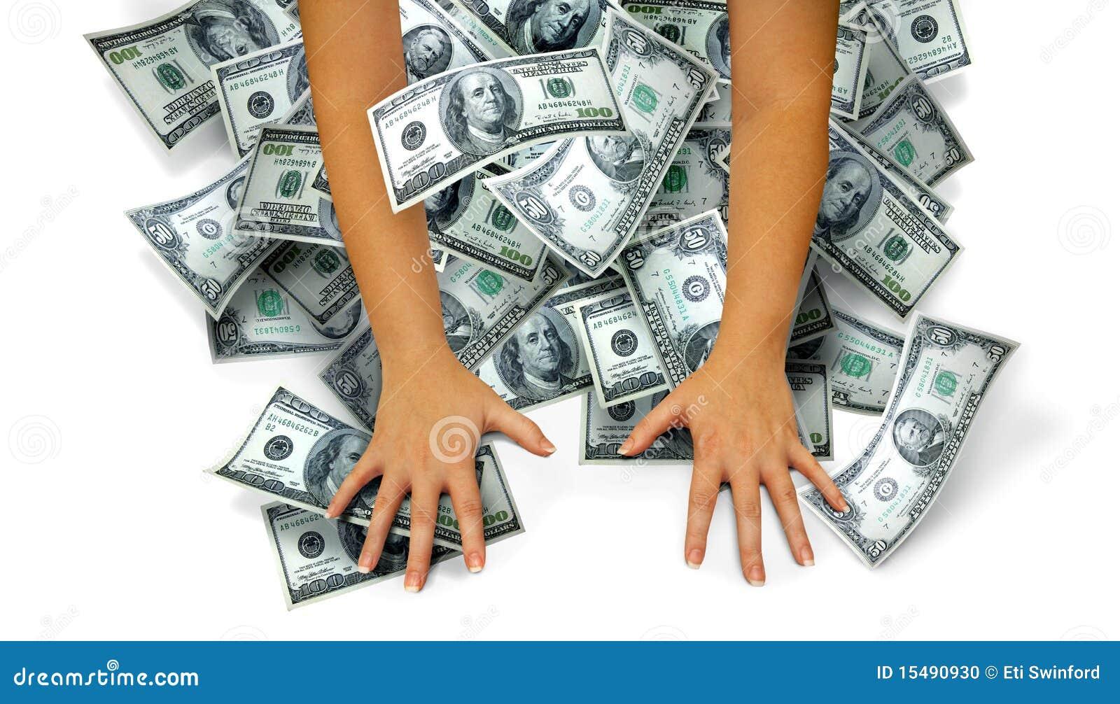 De handen van het geld