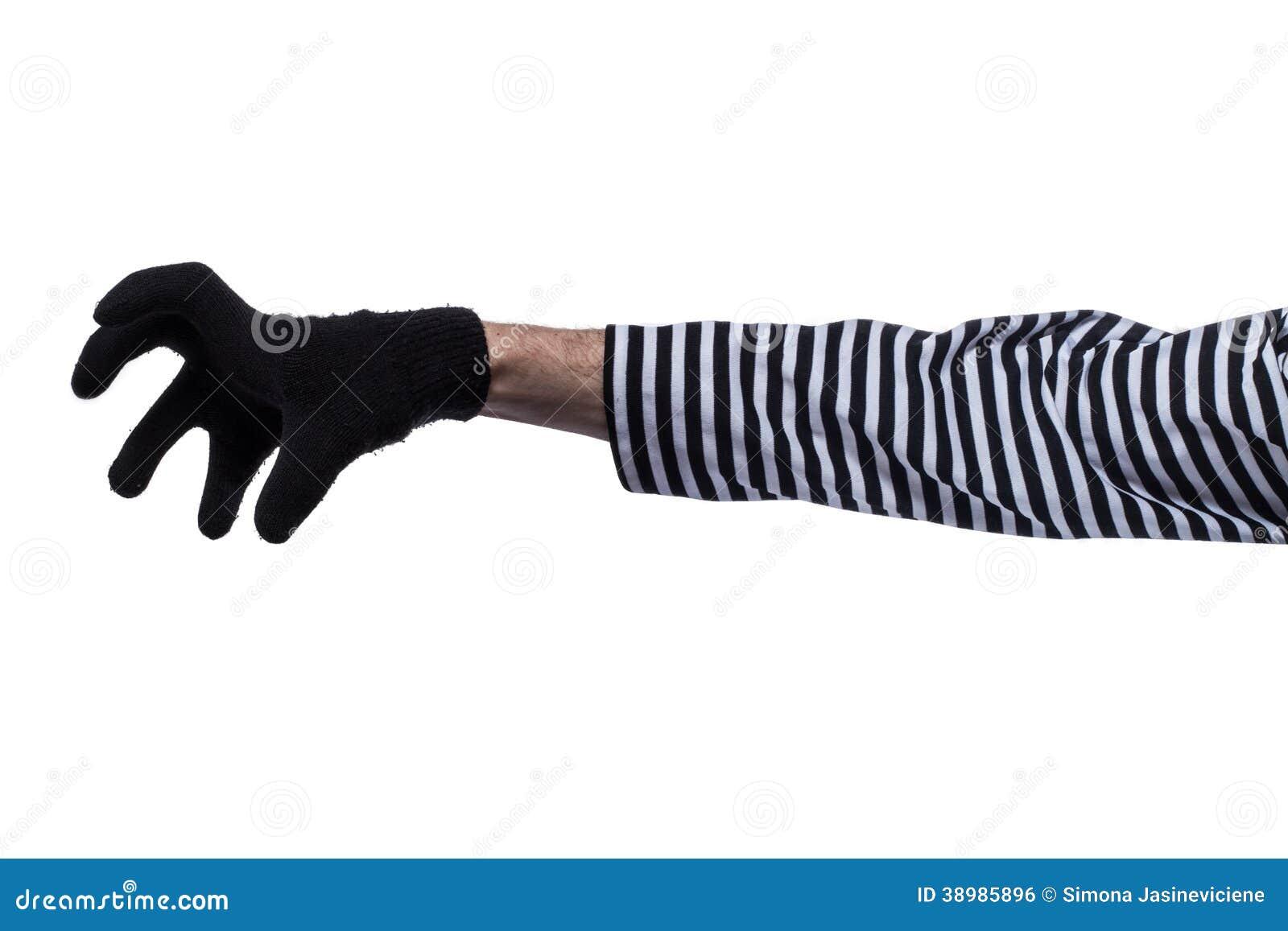 De handen van misdadigers.