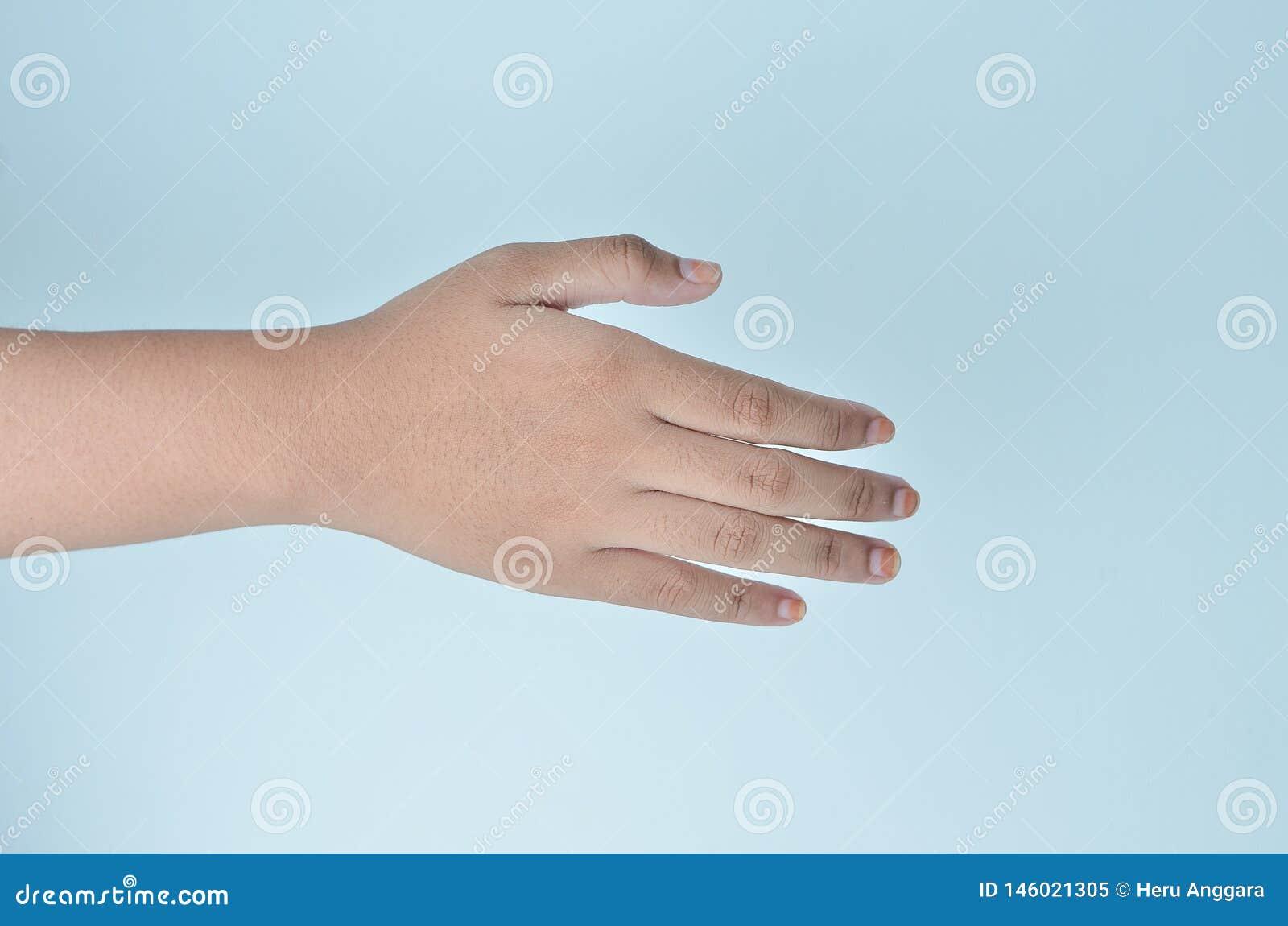 De handen van de schok