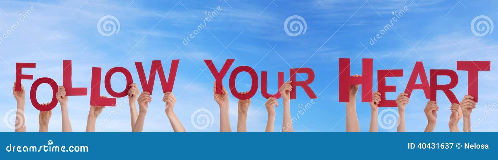 De handenholding volgt Uw Hart in de Hemel
