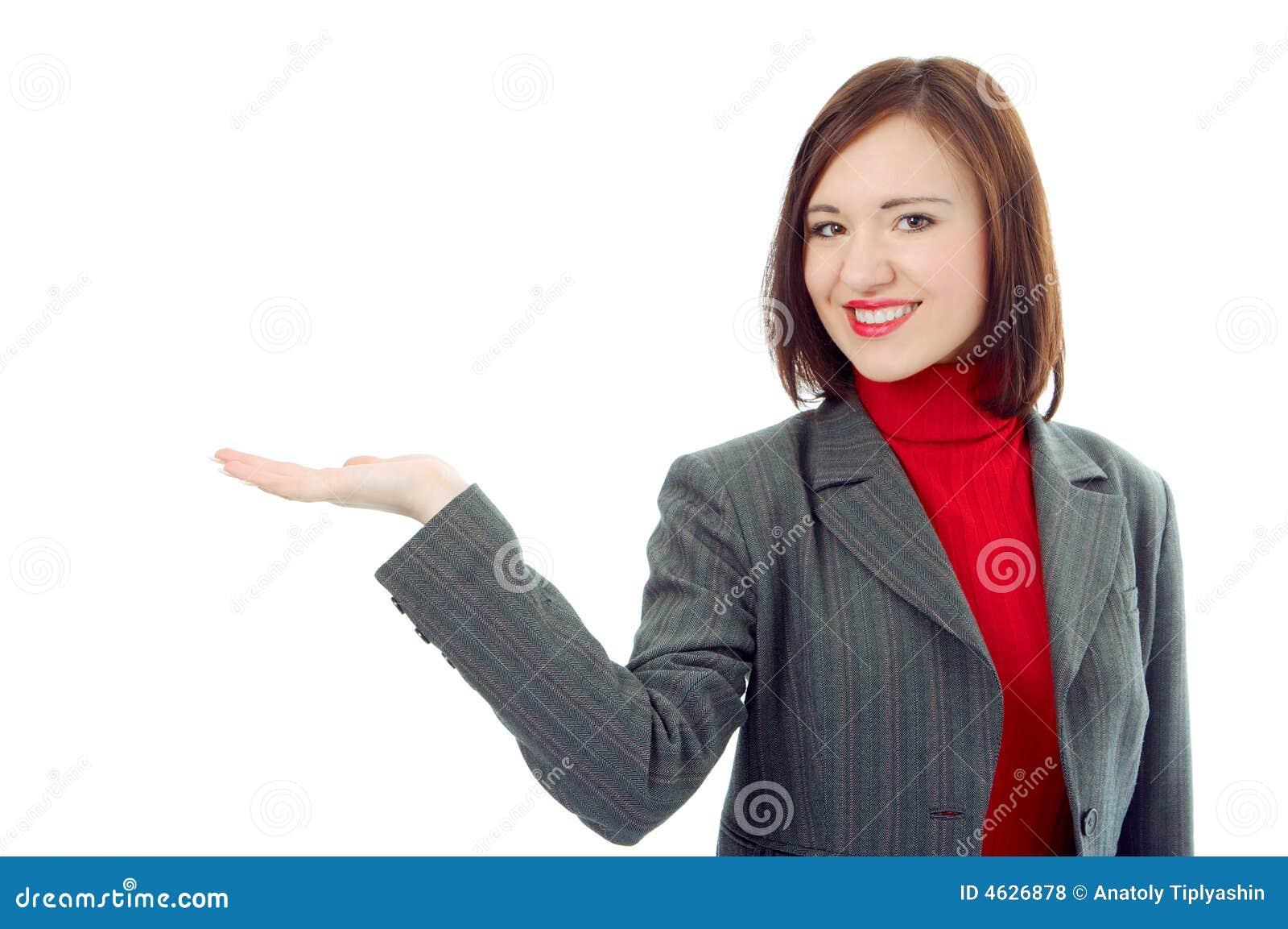 De handpalm van de bedrijfsvrouwengreep omhoog stock foto afbeelding 4626878 - Secretaresse witte ...