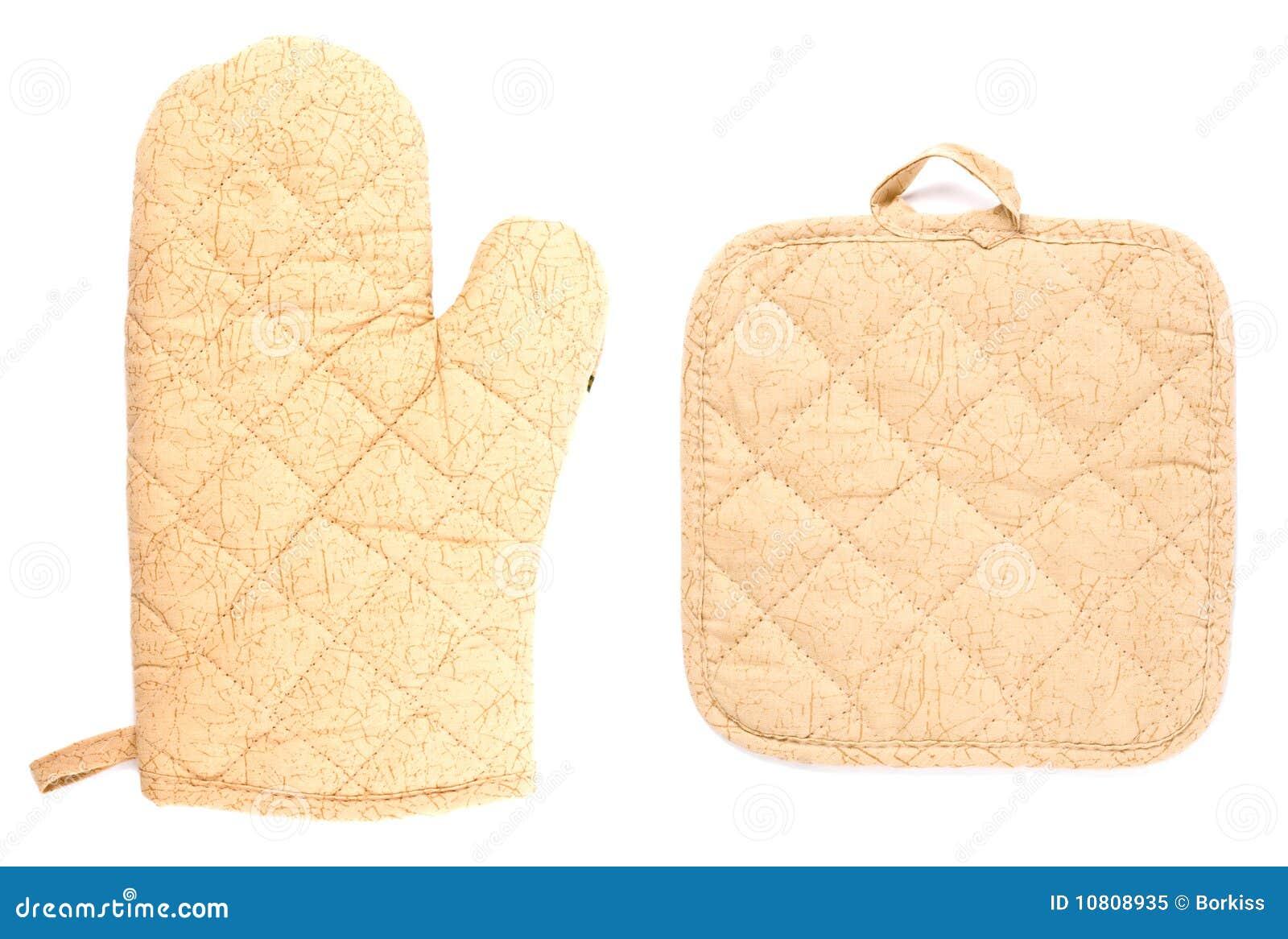 Achtergrond Witte Keuken : De Handschoenen Van De Keuken Op Witte ...