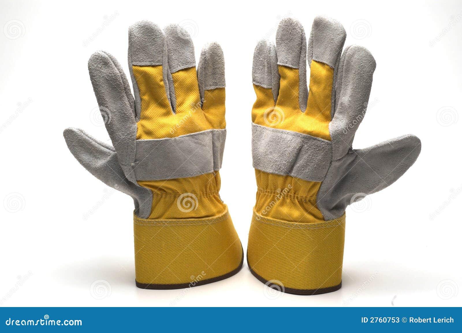 De handschoenen van het werk