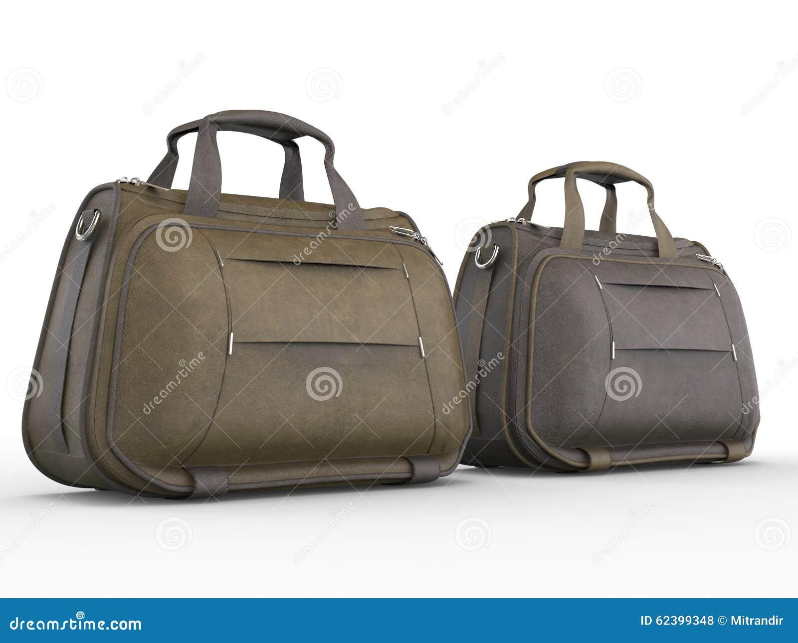 De handtassen van het leer