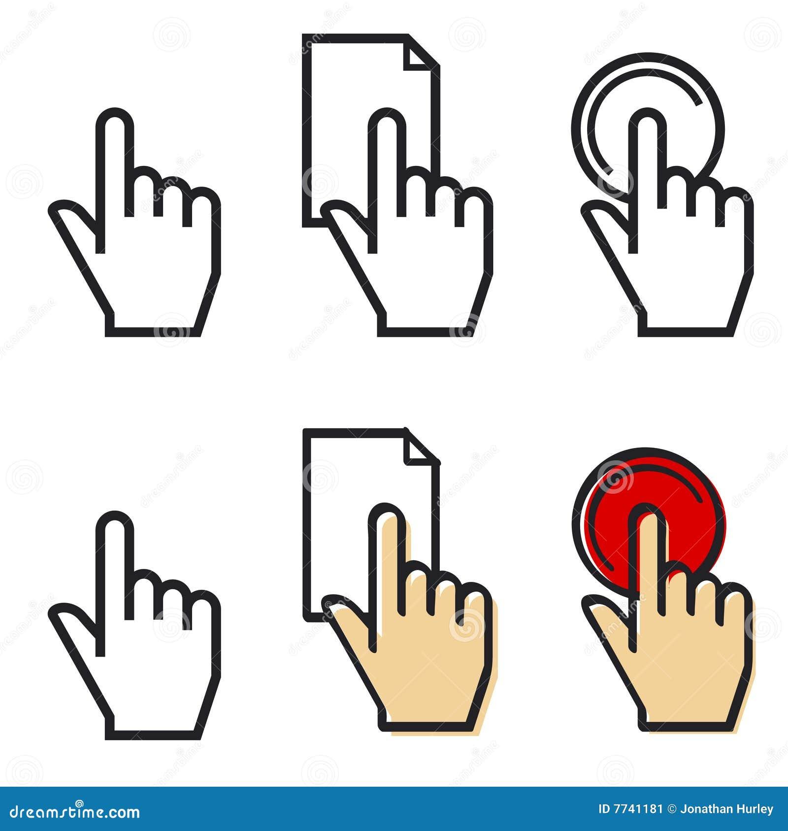De handvinger van de curseur