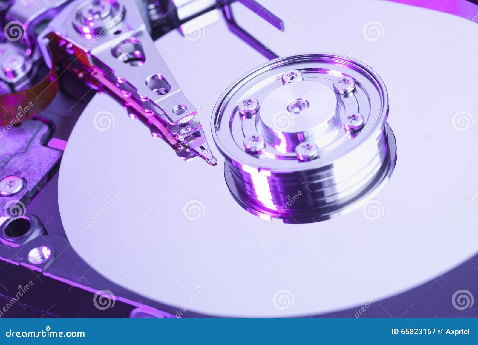 De harde aandrijving van de computer