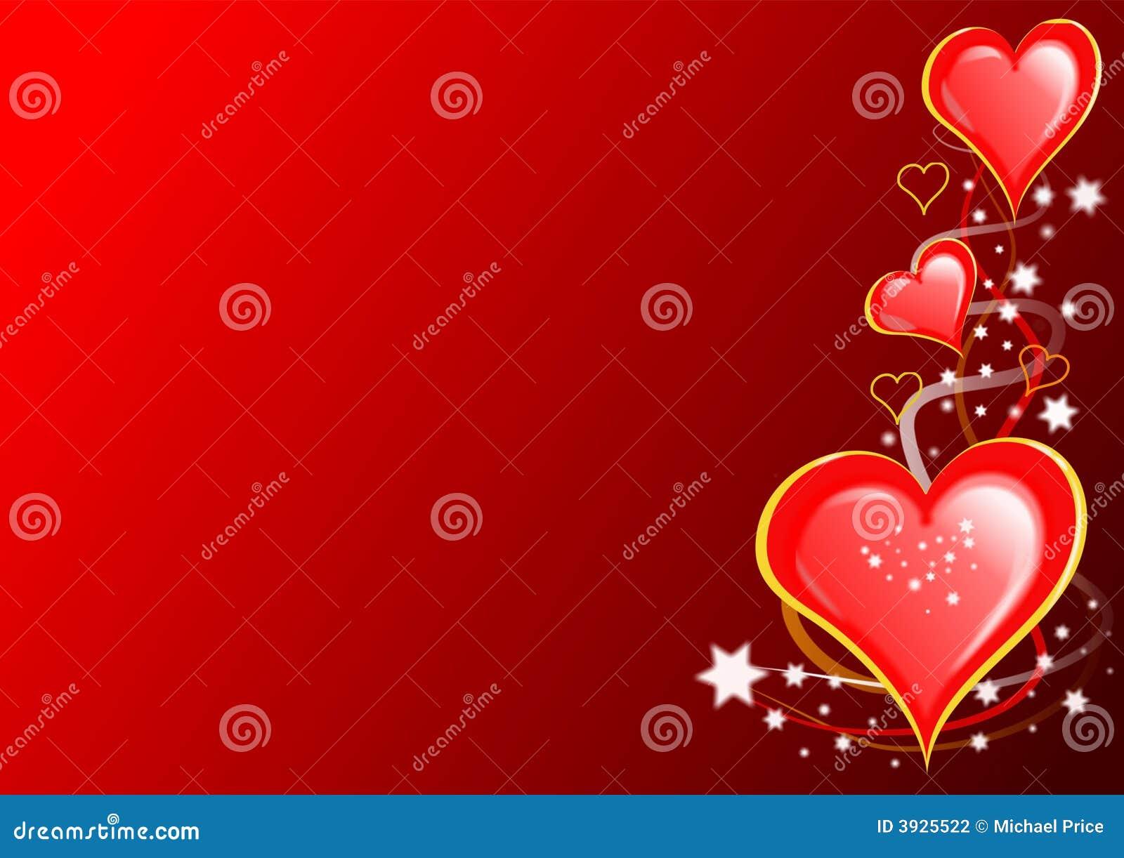 De Harten en de sterren van valentijnskaarten