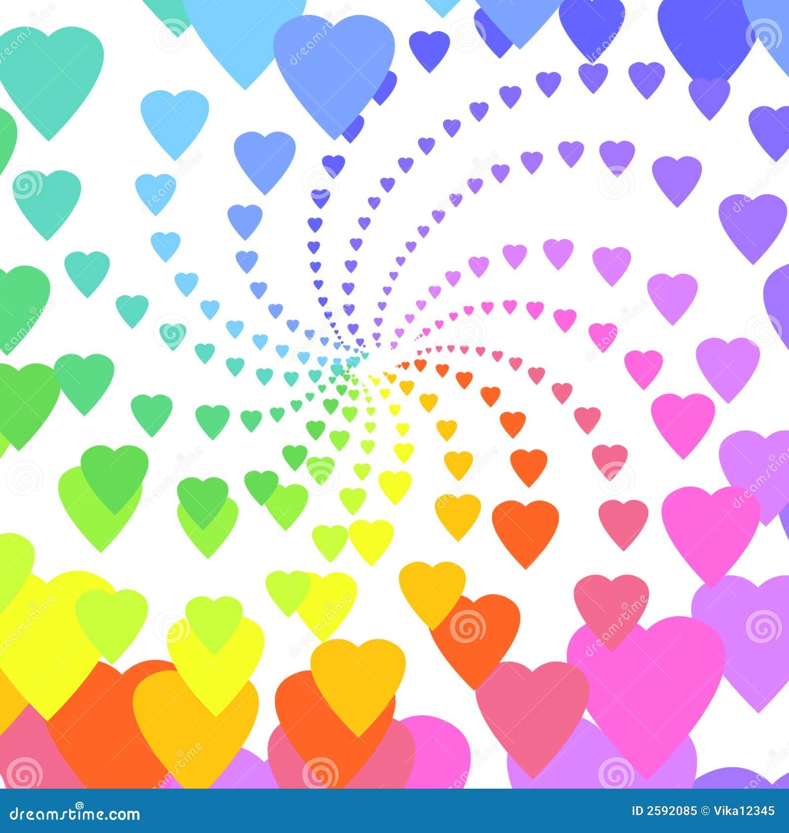 De harten van de regenboog