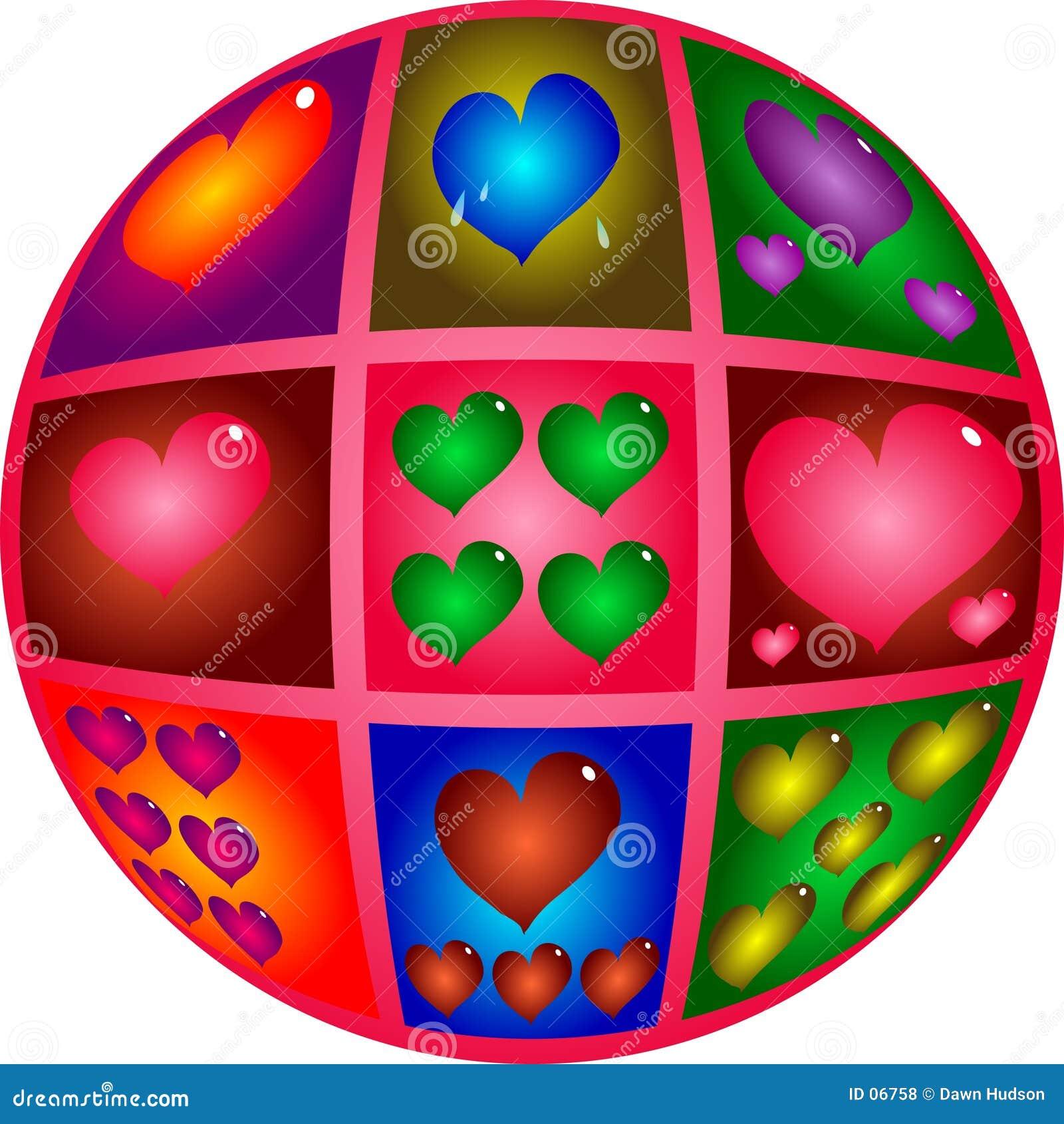 De Harten van de valentijnskaart