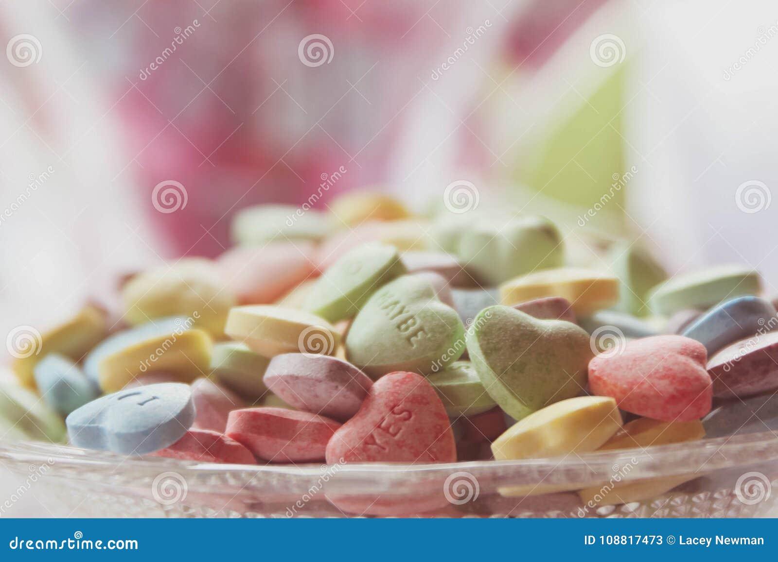 De harten van het suikergoed
