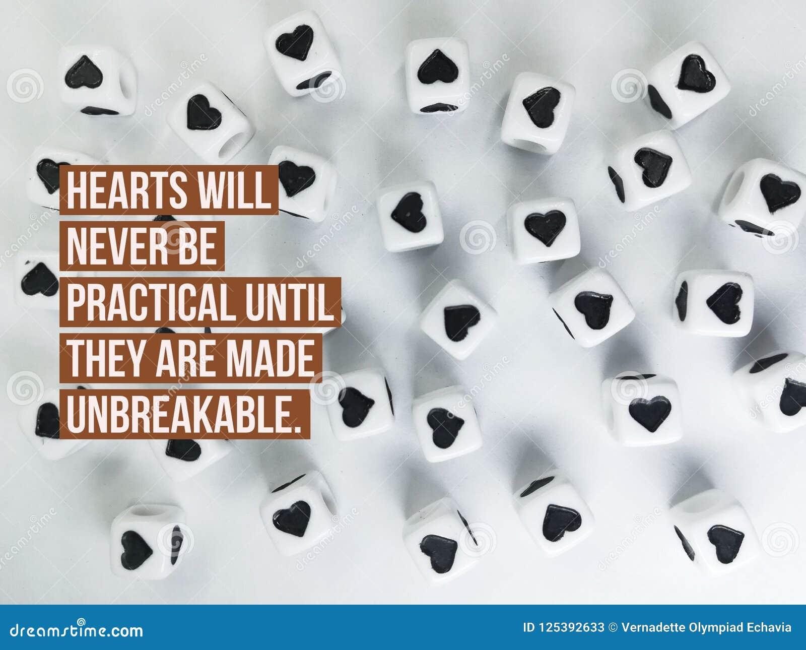 De harten zullen nooit praktisch zijn tot zij tot onverbrekelijk citaat worden gemaakt