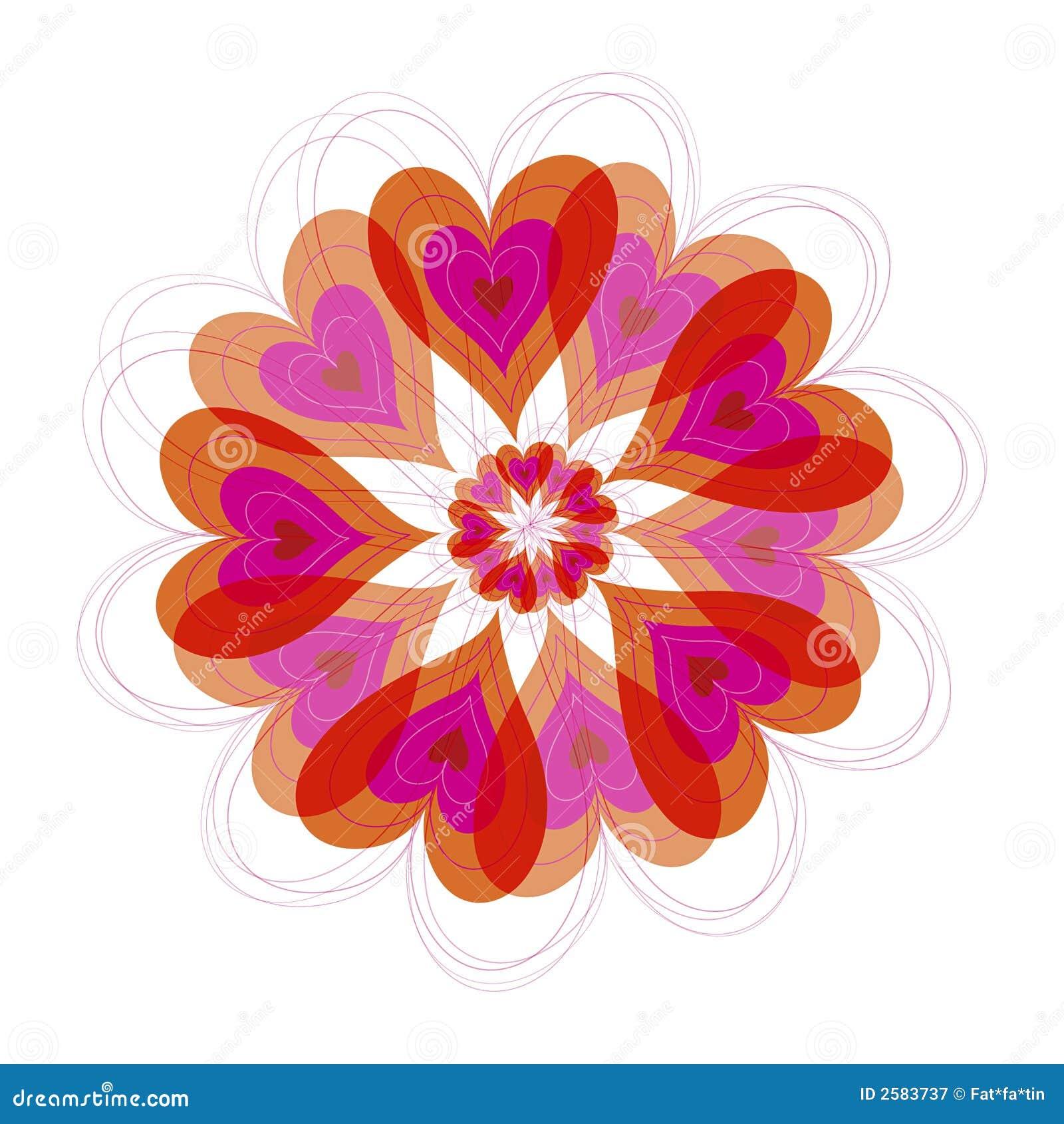 De hartenbloei van de bloem