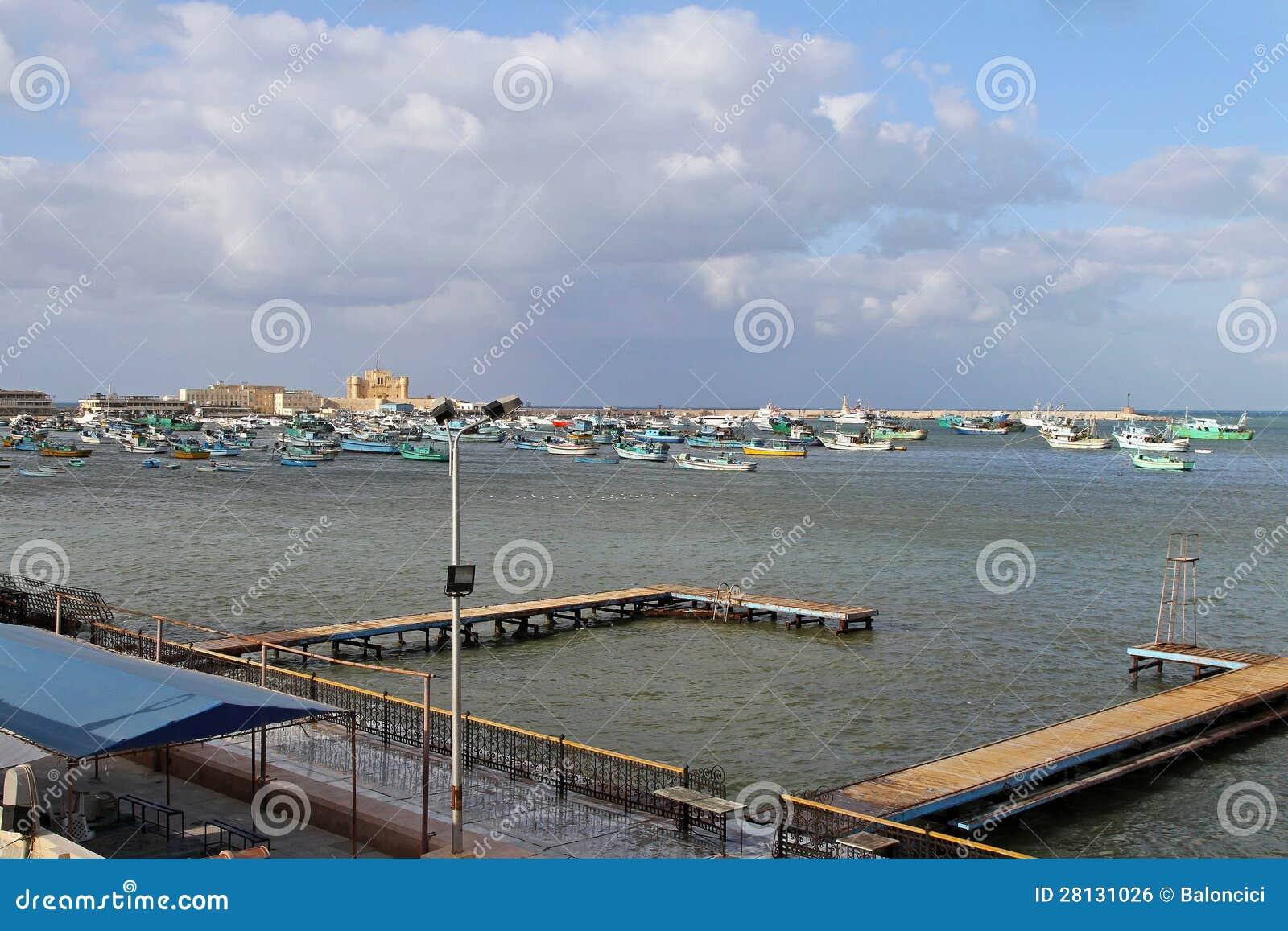 De haven van Alexandrië