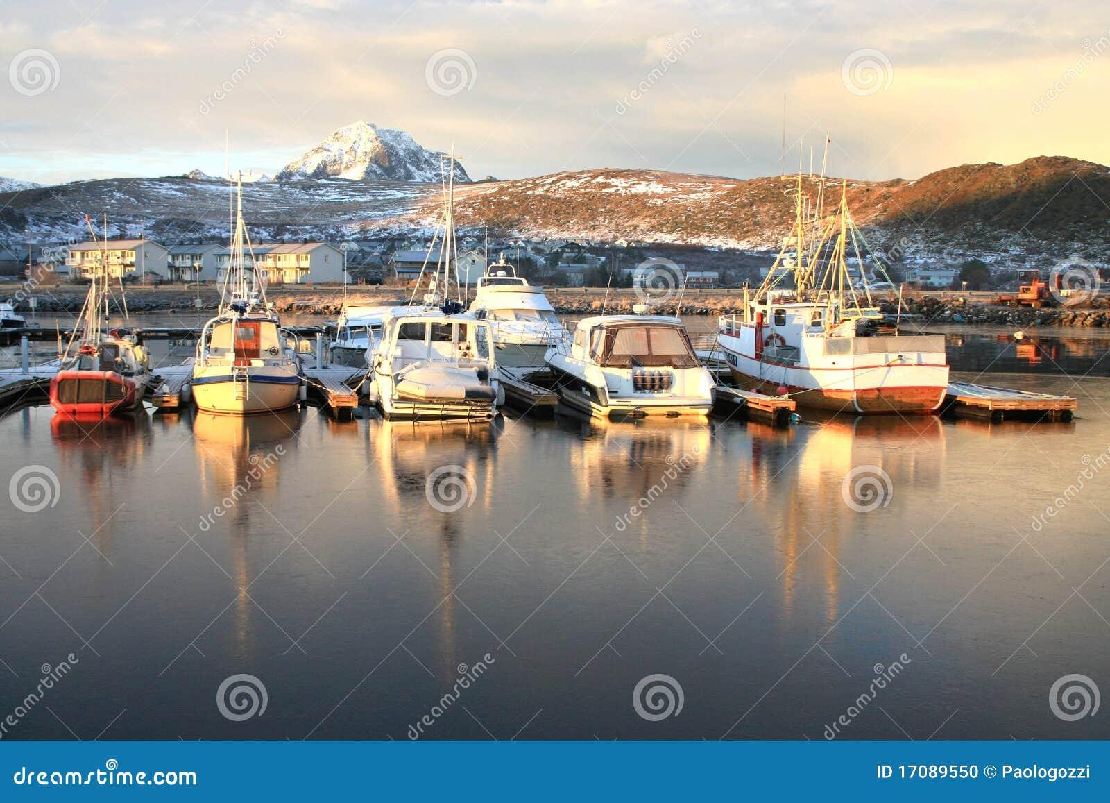 De haven van Gravdals in november