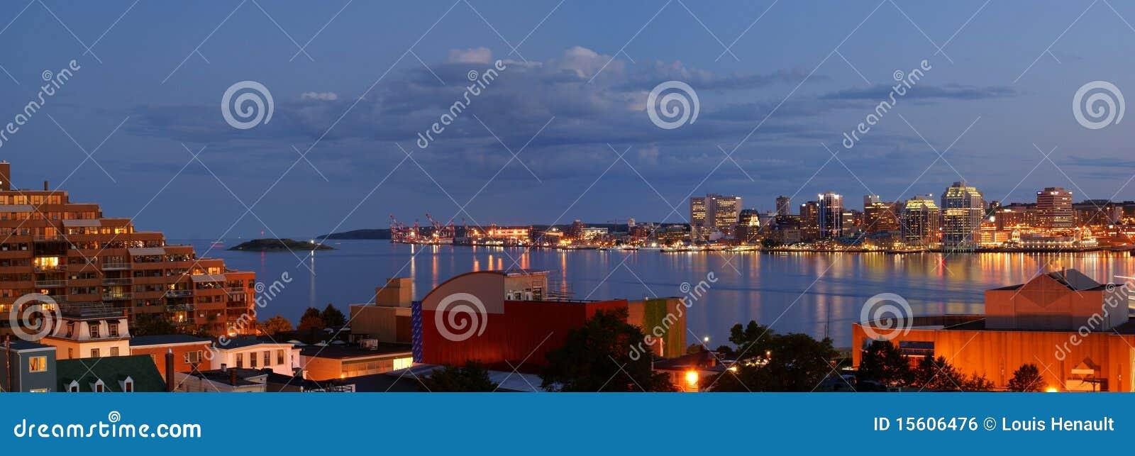 De haven van Halifax