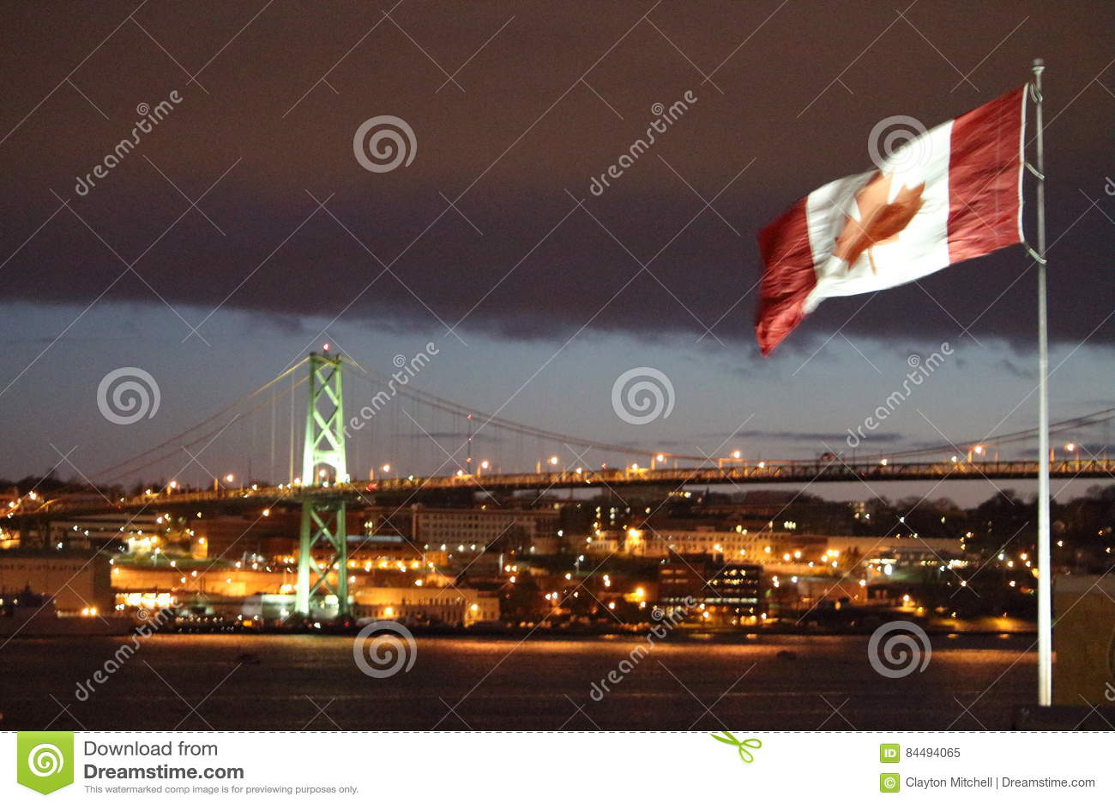 De Haven van Halifax, NS - Mening van de Havenvoorzijde