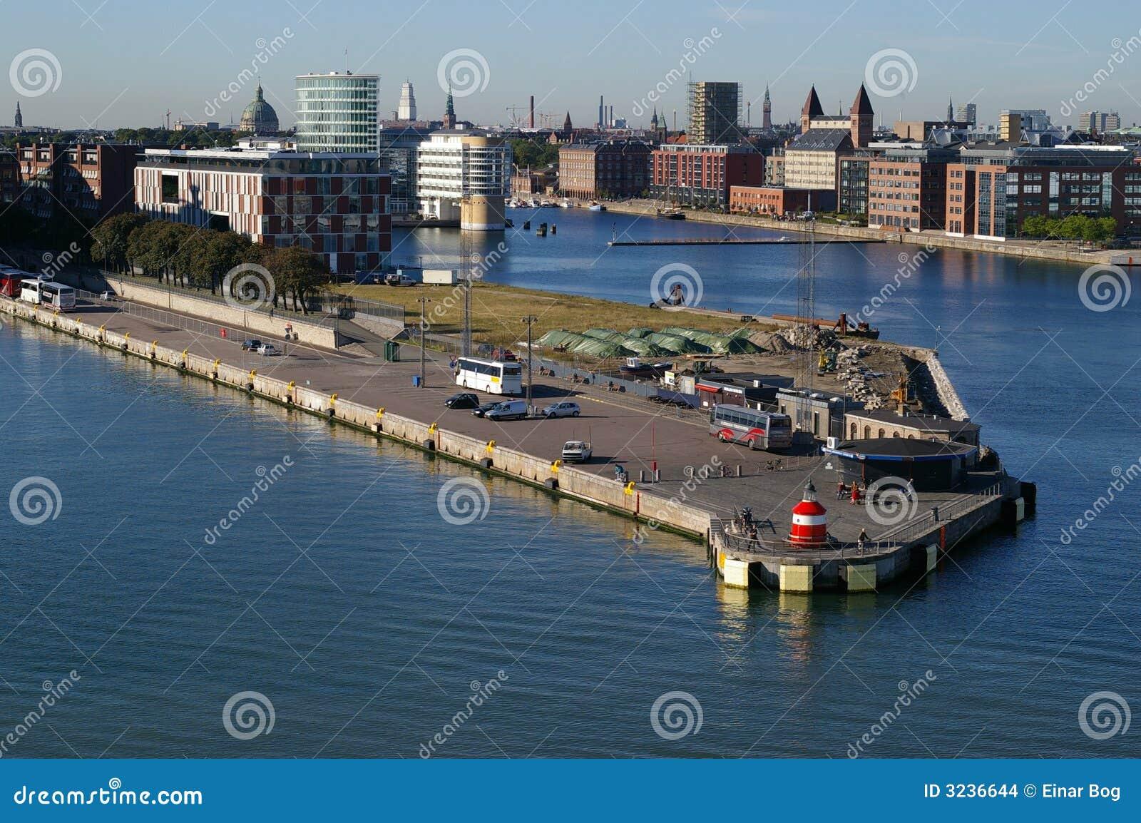De haven van Langelinie in Kopenhagen