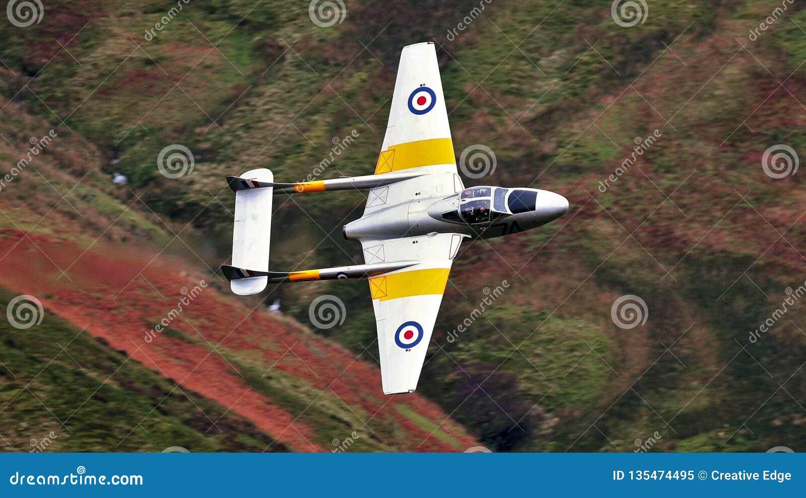 De Havilland-Vampier uitstekende straal