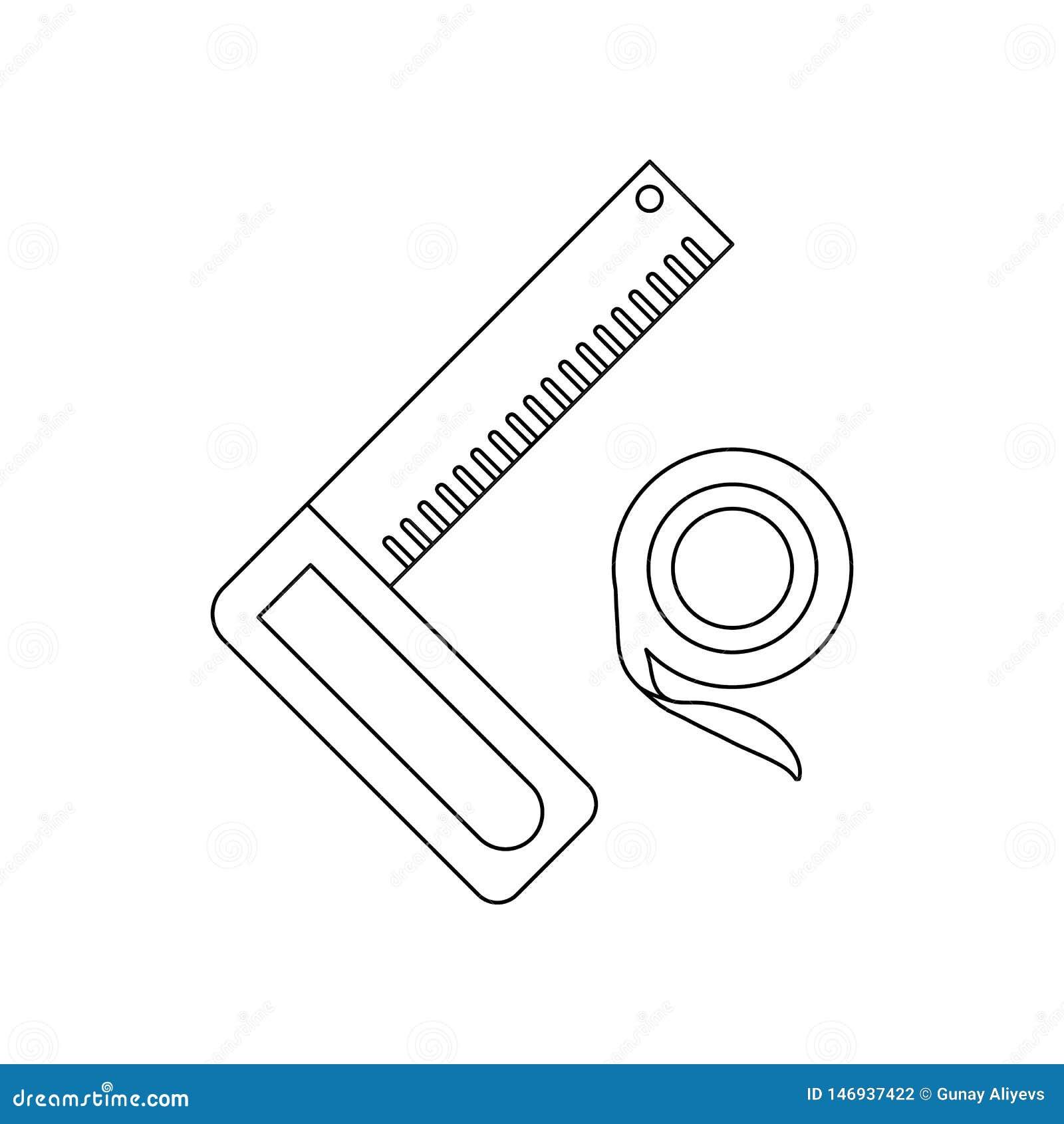 De heerserspictogram van de kleurenhoek Element van bouwhulpmiddelen voor mobiel concept en webtoepassingenpictogram Overzicht, d