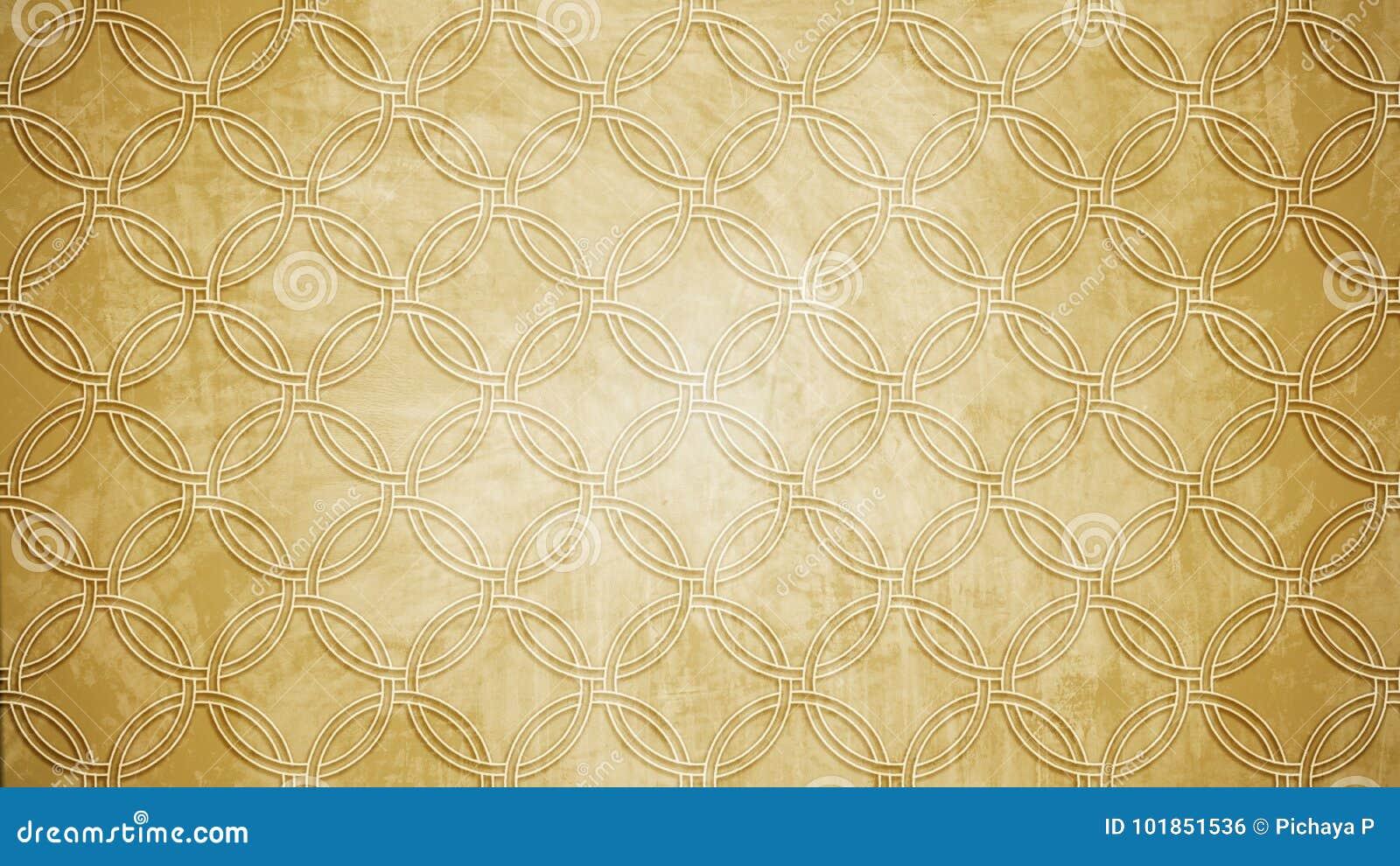 De heilige vorm van het de zegelpatroon van de meetkundecirkel op textu van het muurpatroon