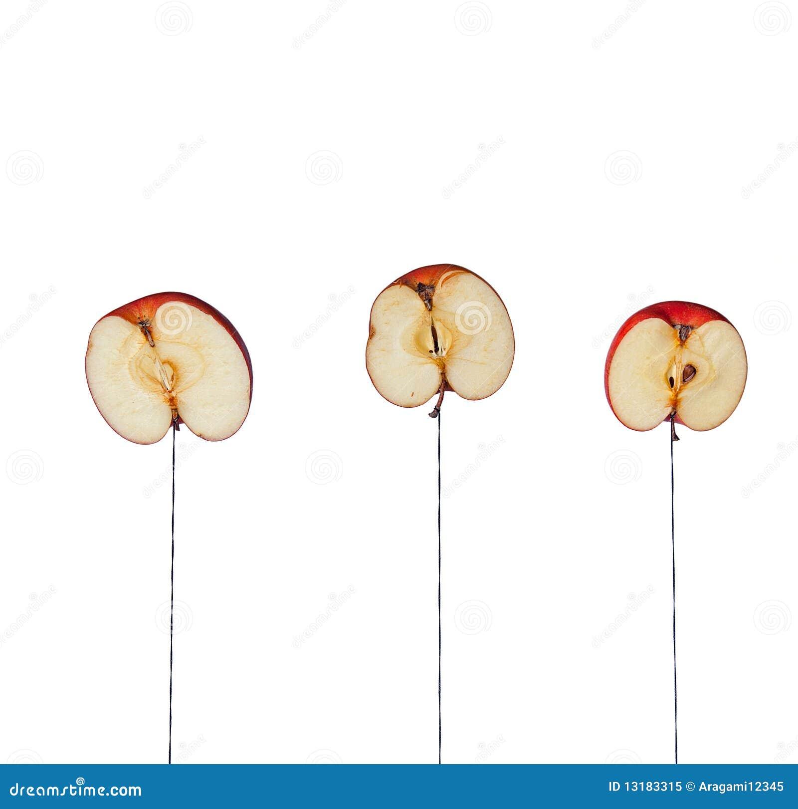 De helften van de appel