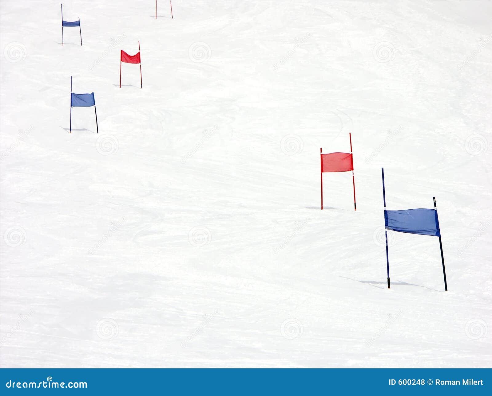 De helling van de slalom