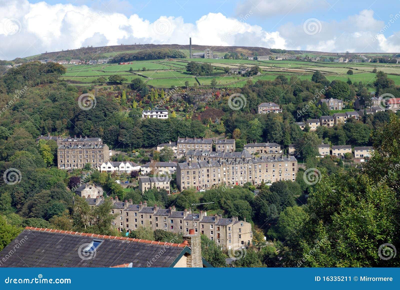 De hellingsdorp van Yorkshire