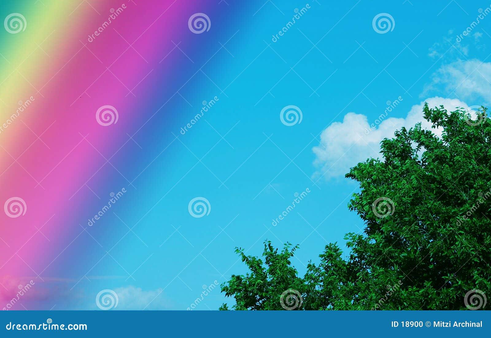 De hemel van de regenboog