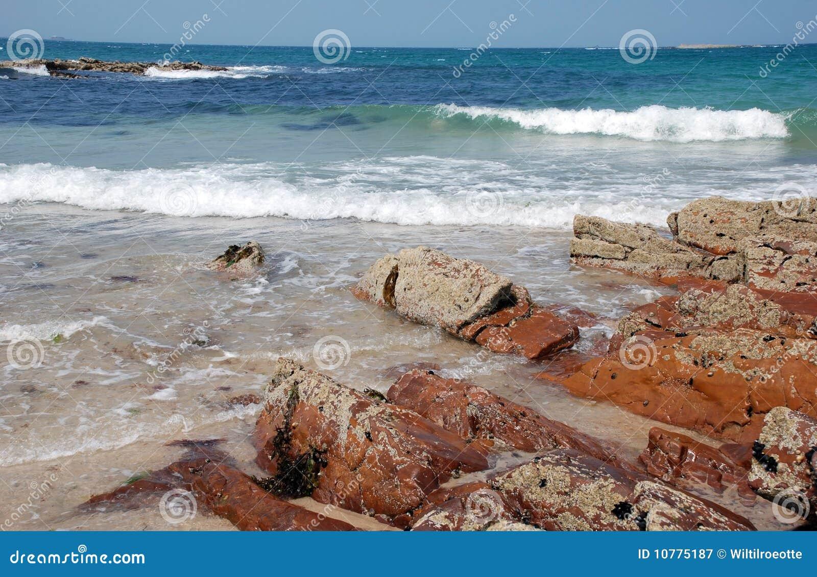 De hemel van het strandBLEU van golven