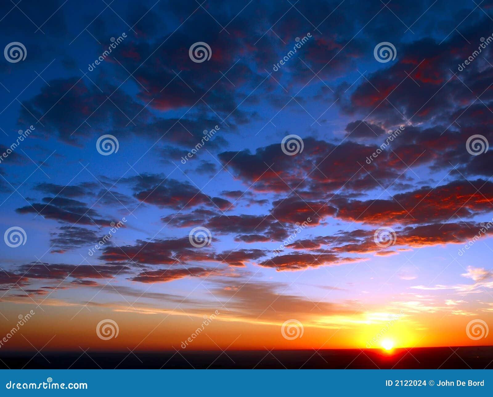 De hemelen van de zonsopgang