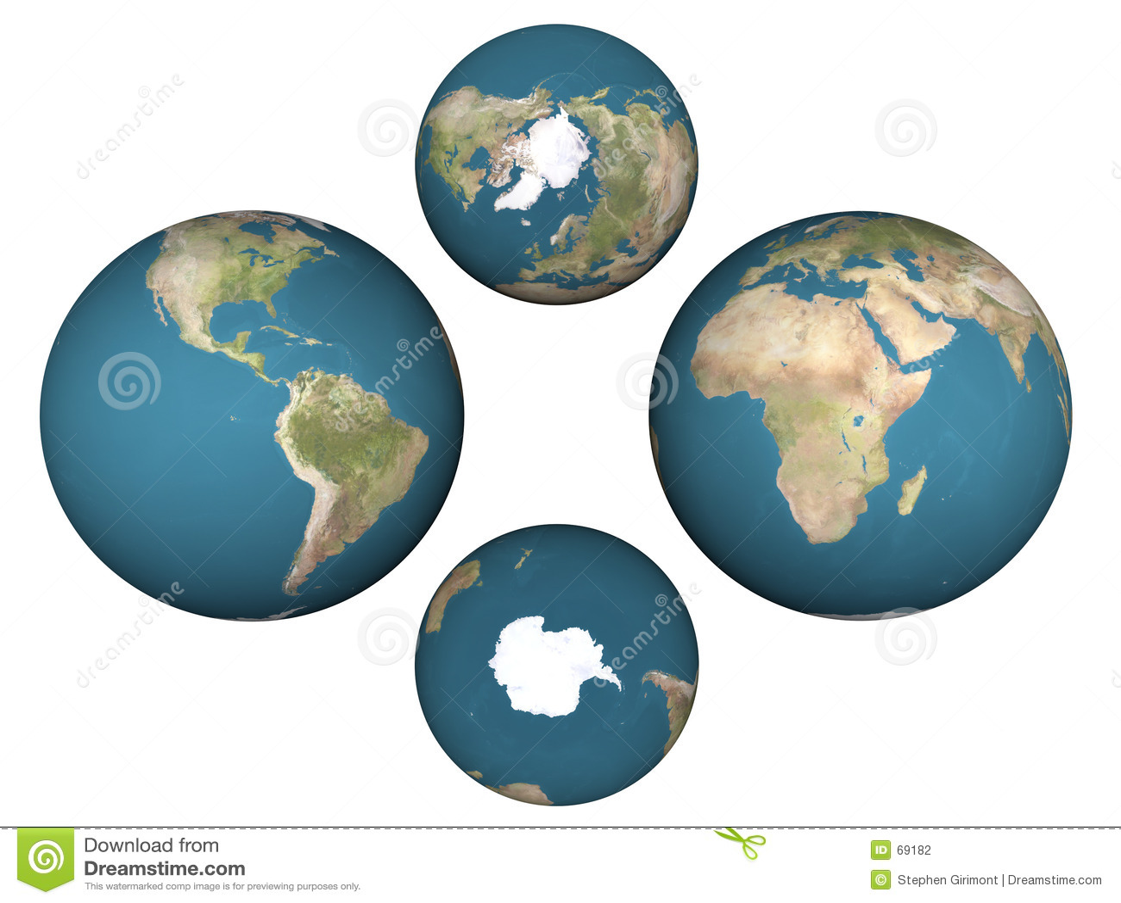 De Hemisferen van de aarde