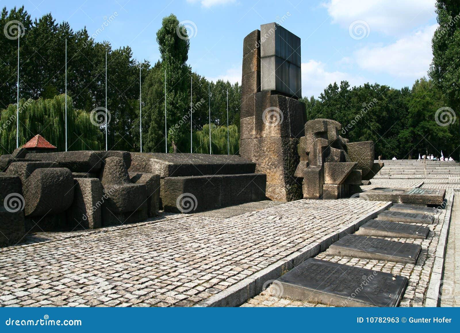 De herdenkingsplaats van Auschwitz