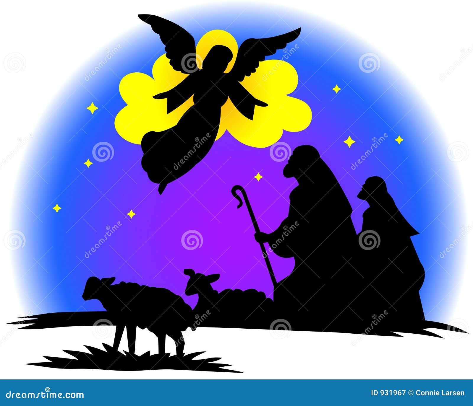 De herders silhouetteren