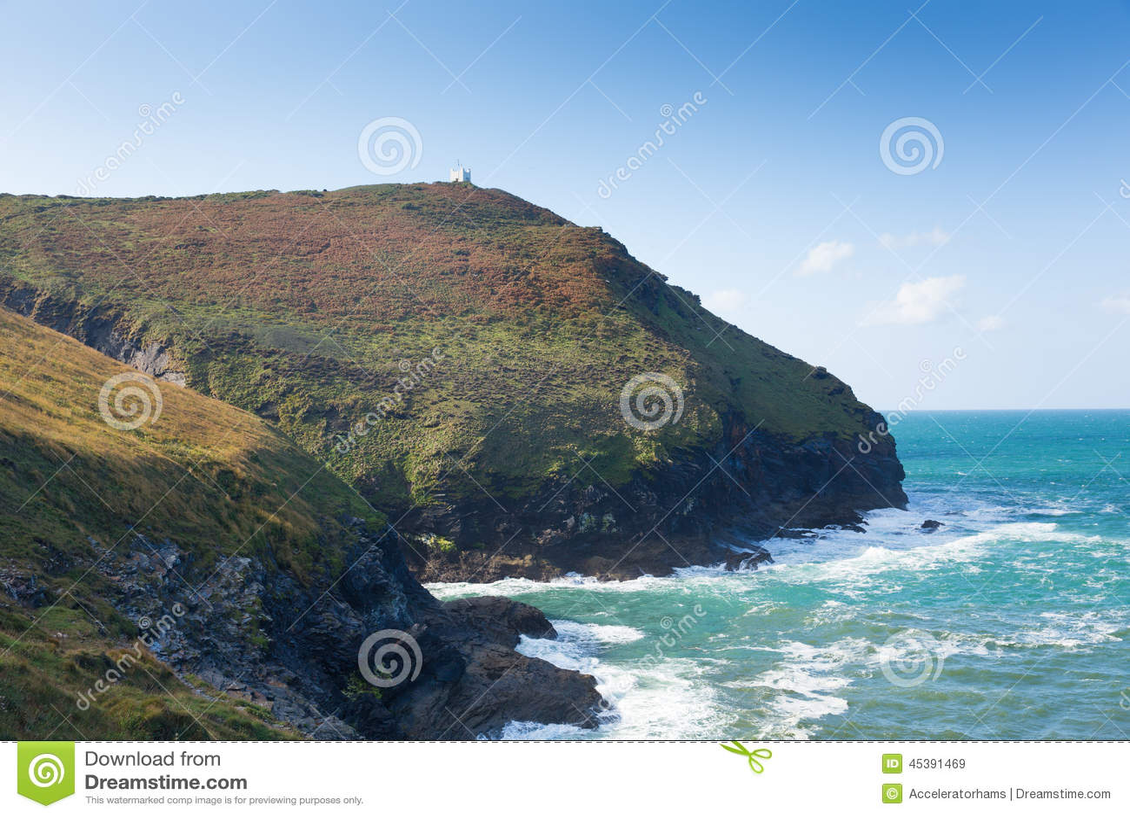 De Herfst Bij De Kust Van Cornwall Dichtbij Boscastle