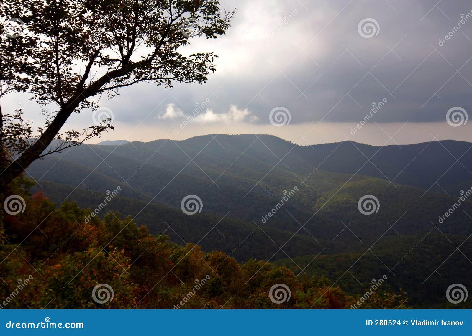 De herfst in de berg