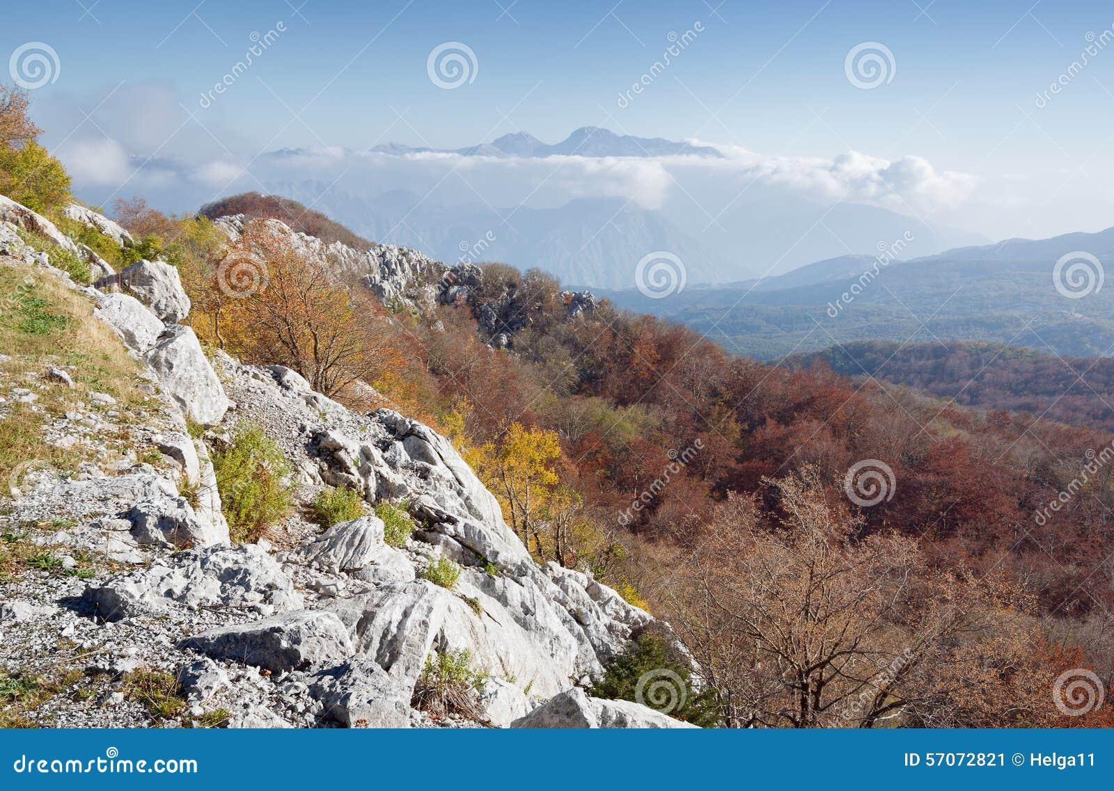 De herfst in Montenegro