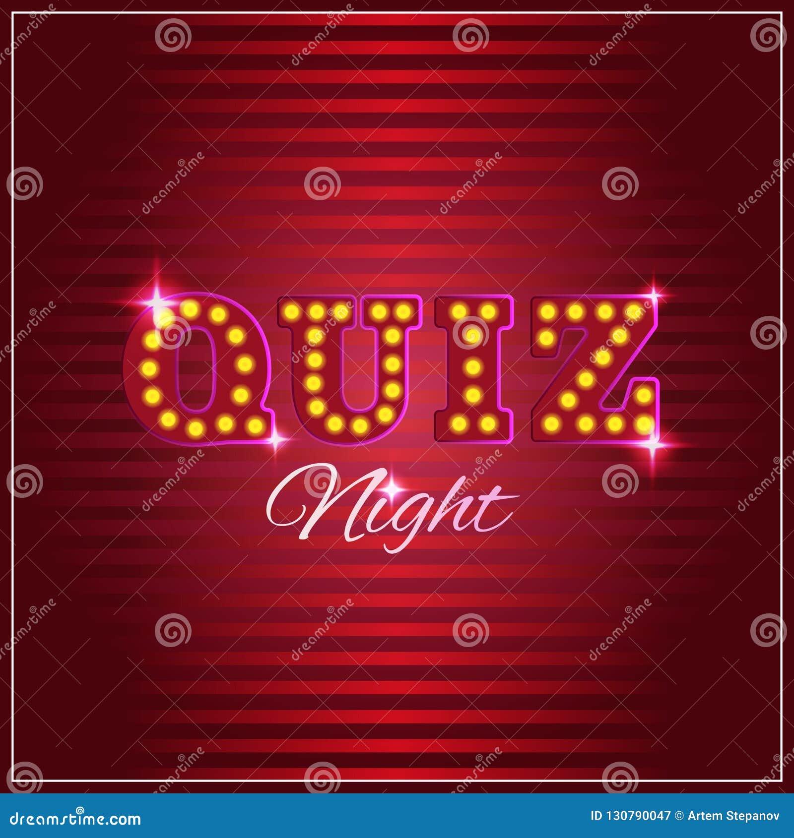 De het bagatellenspel of quiz toont achtergrond met gloeilampen
