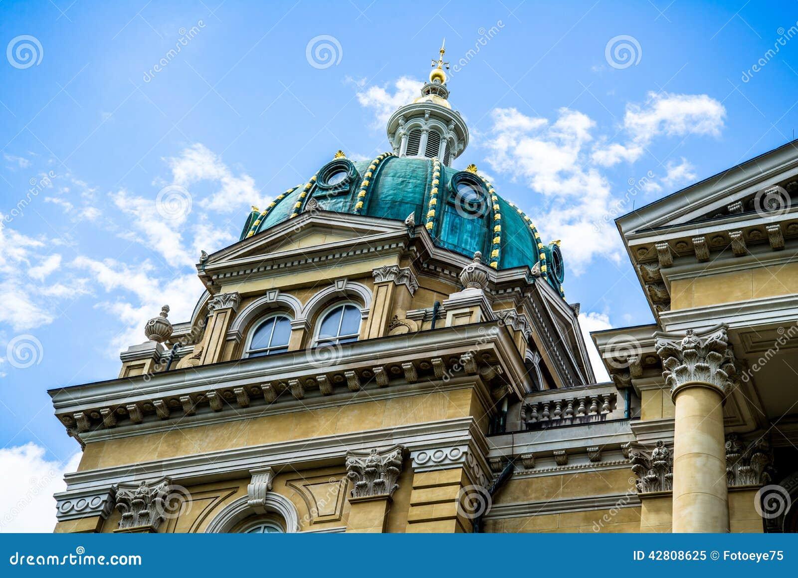 De het Capitoolbouw van de staat in Des Moines Iowa