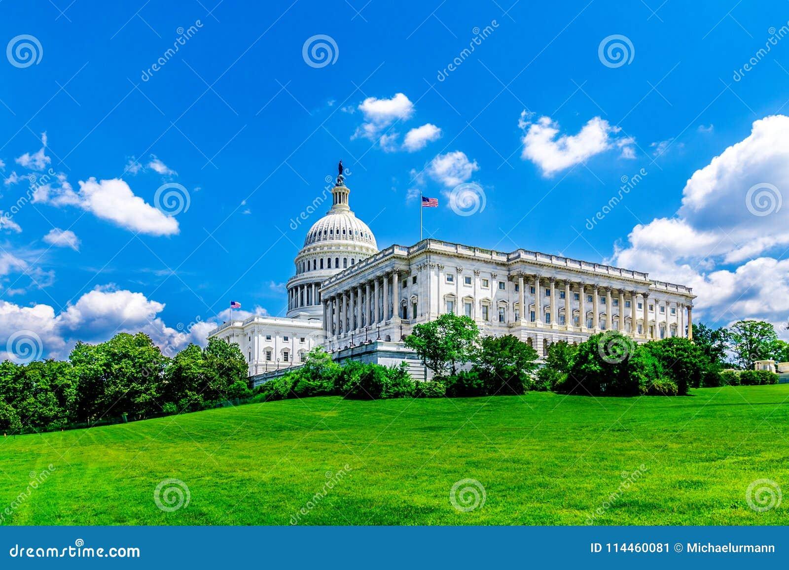 De het Capitoolbouw van Verenigde Staten in Washington DC - het Beroemde Oriëntatiepunt van de V.S. en zetel van de Amerikaanse f