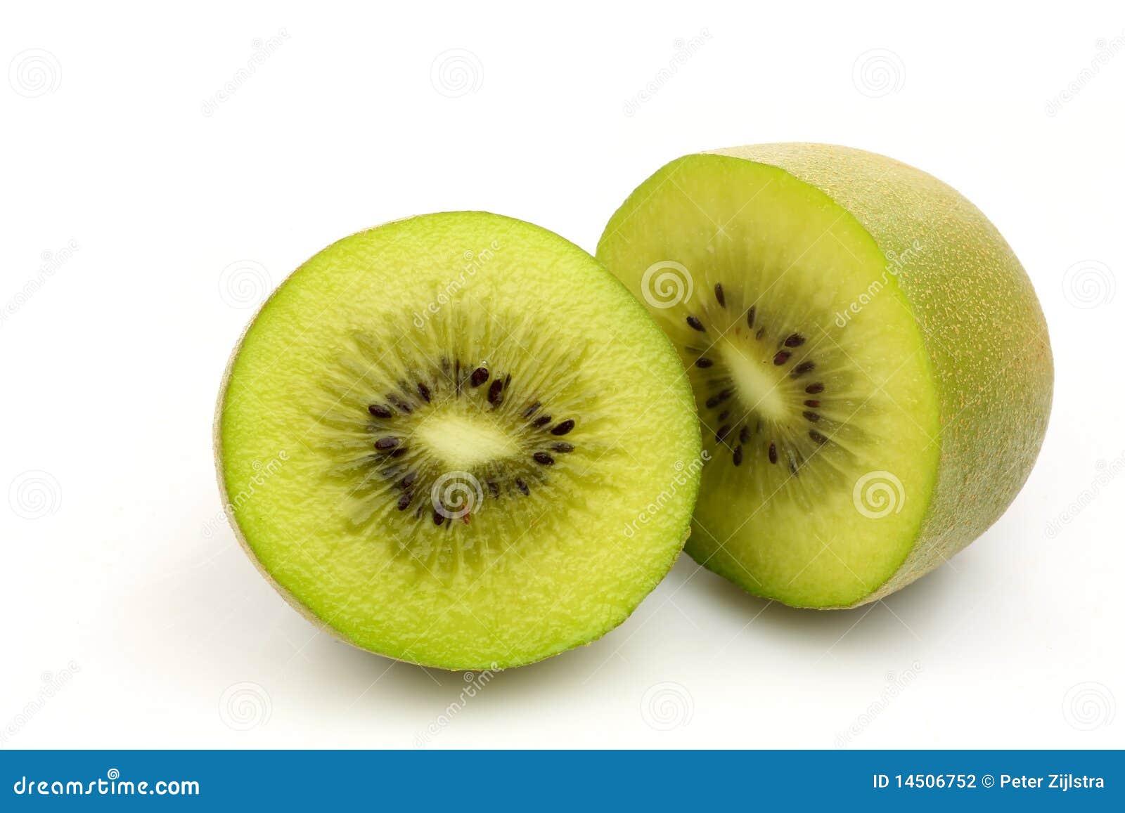 De het fruithelften van de kiwi